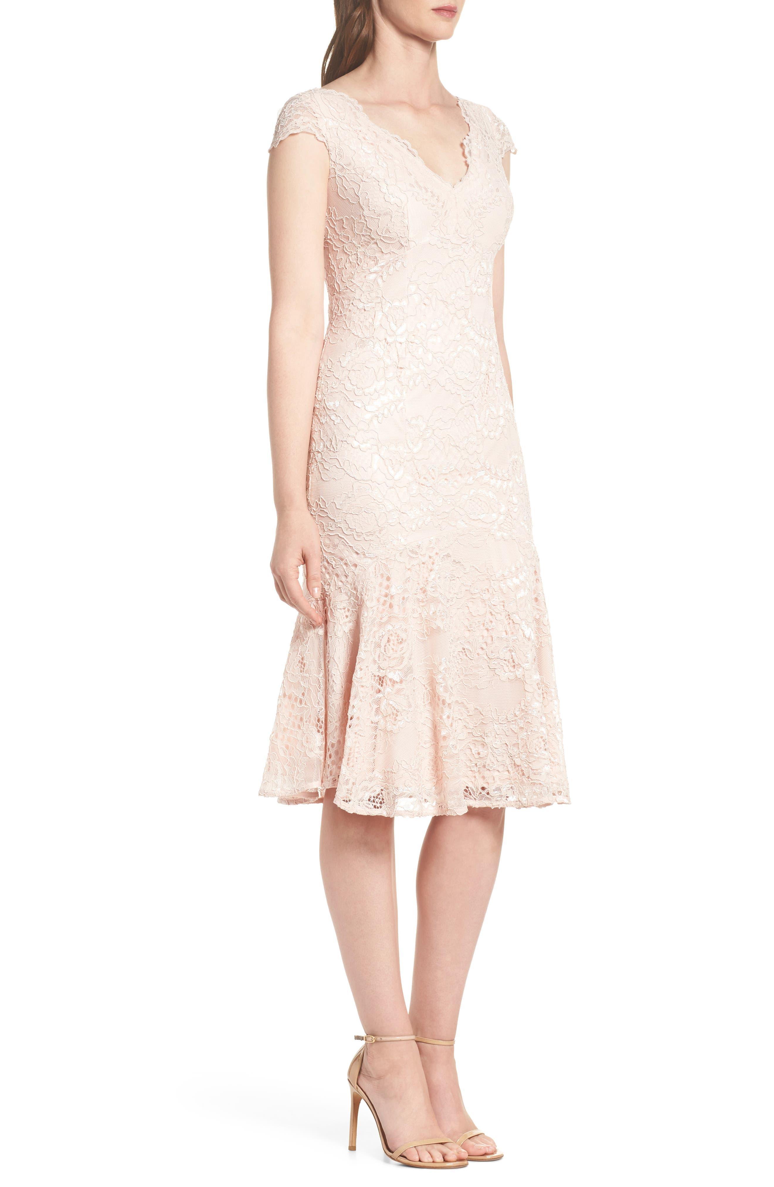 Flounce Hem Lace Dress,                             Alternate thumbnail 6, color,