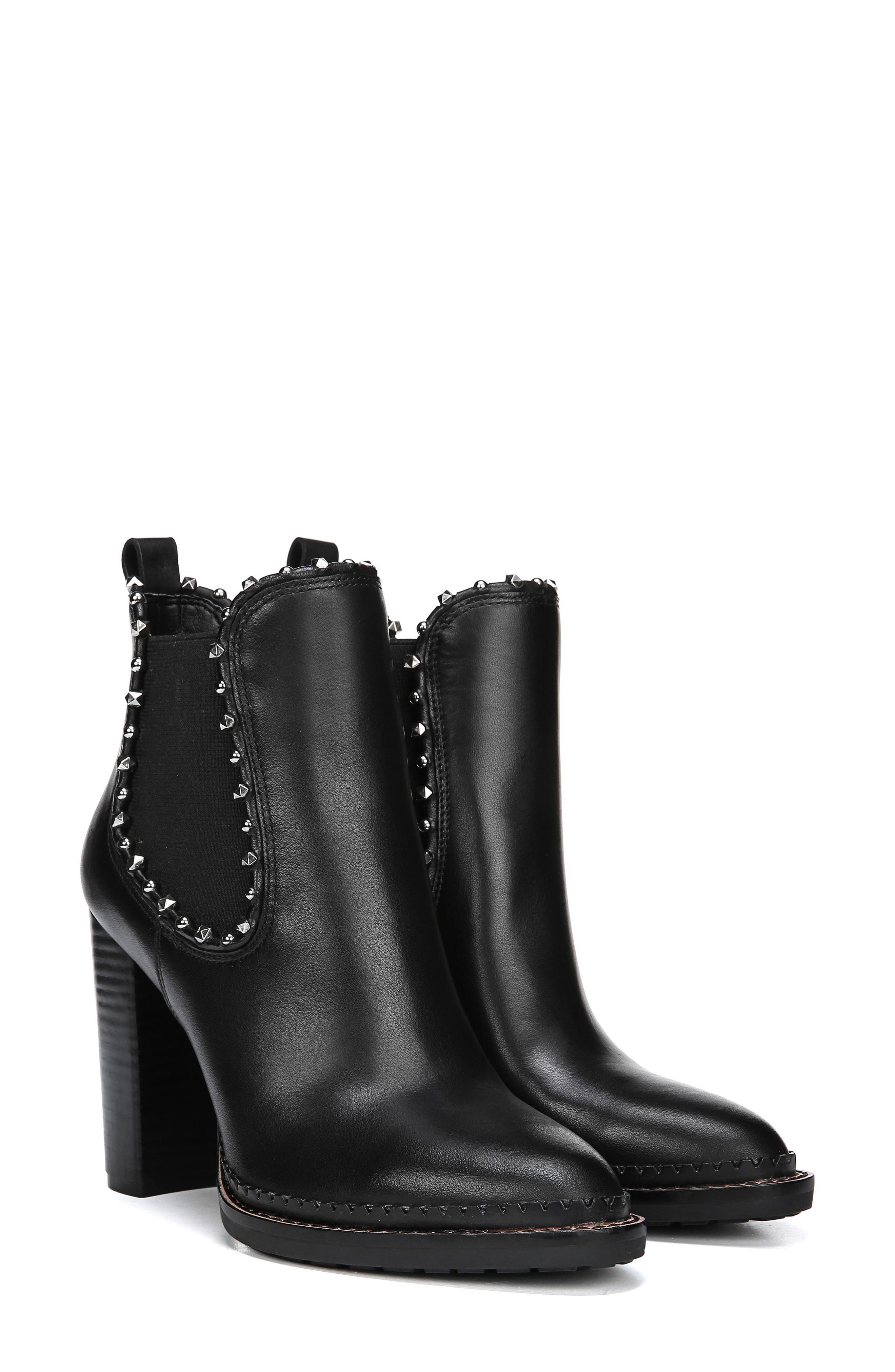 SAM EDELMAN,                             Salma Studded Chelsea Boot,                             Alternate thumbnail 8, color,                             001