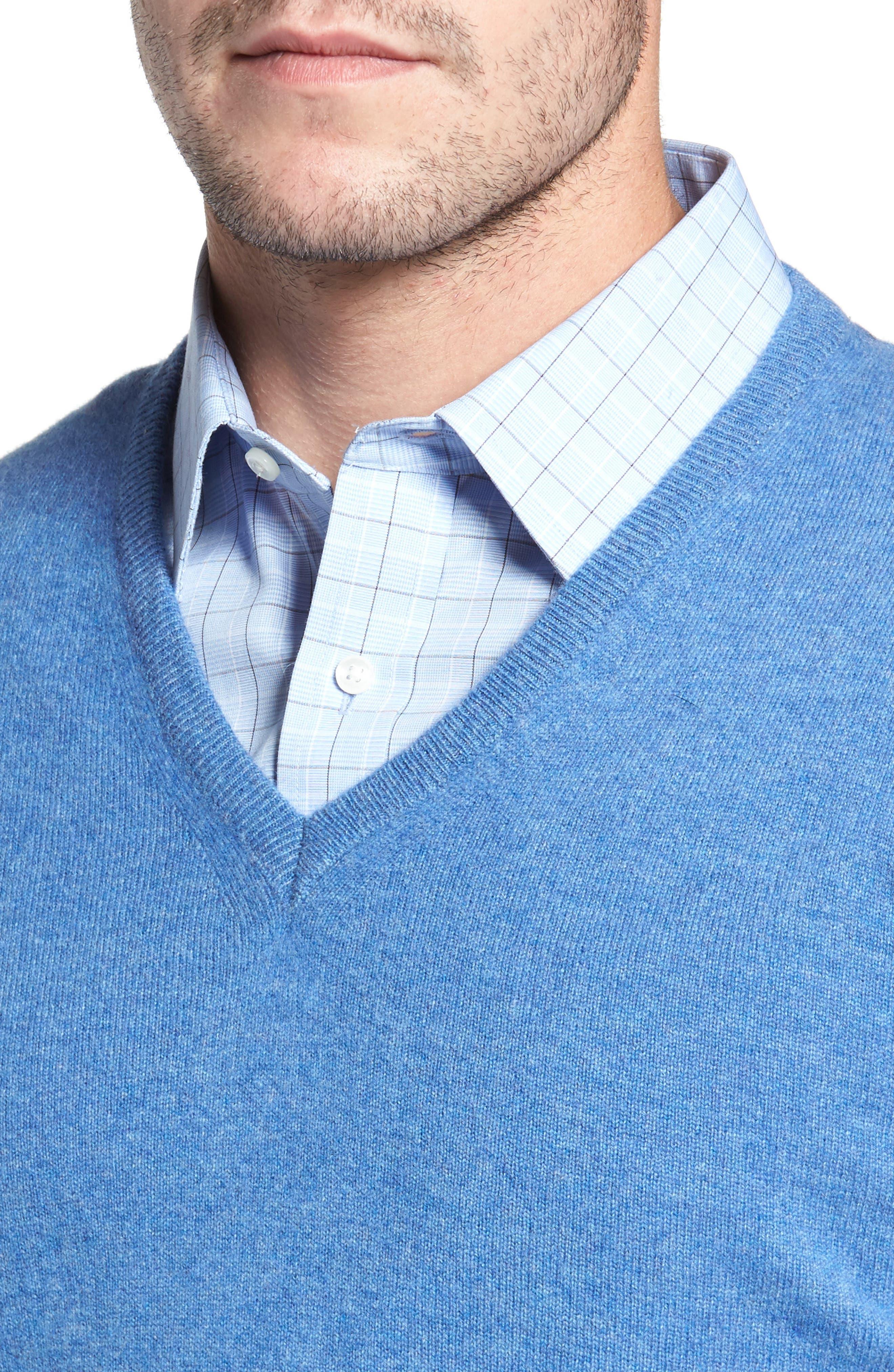Cashmere V-Neck Sweater,                             Alternate thumbnail 22, color,