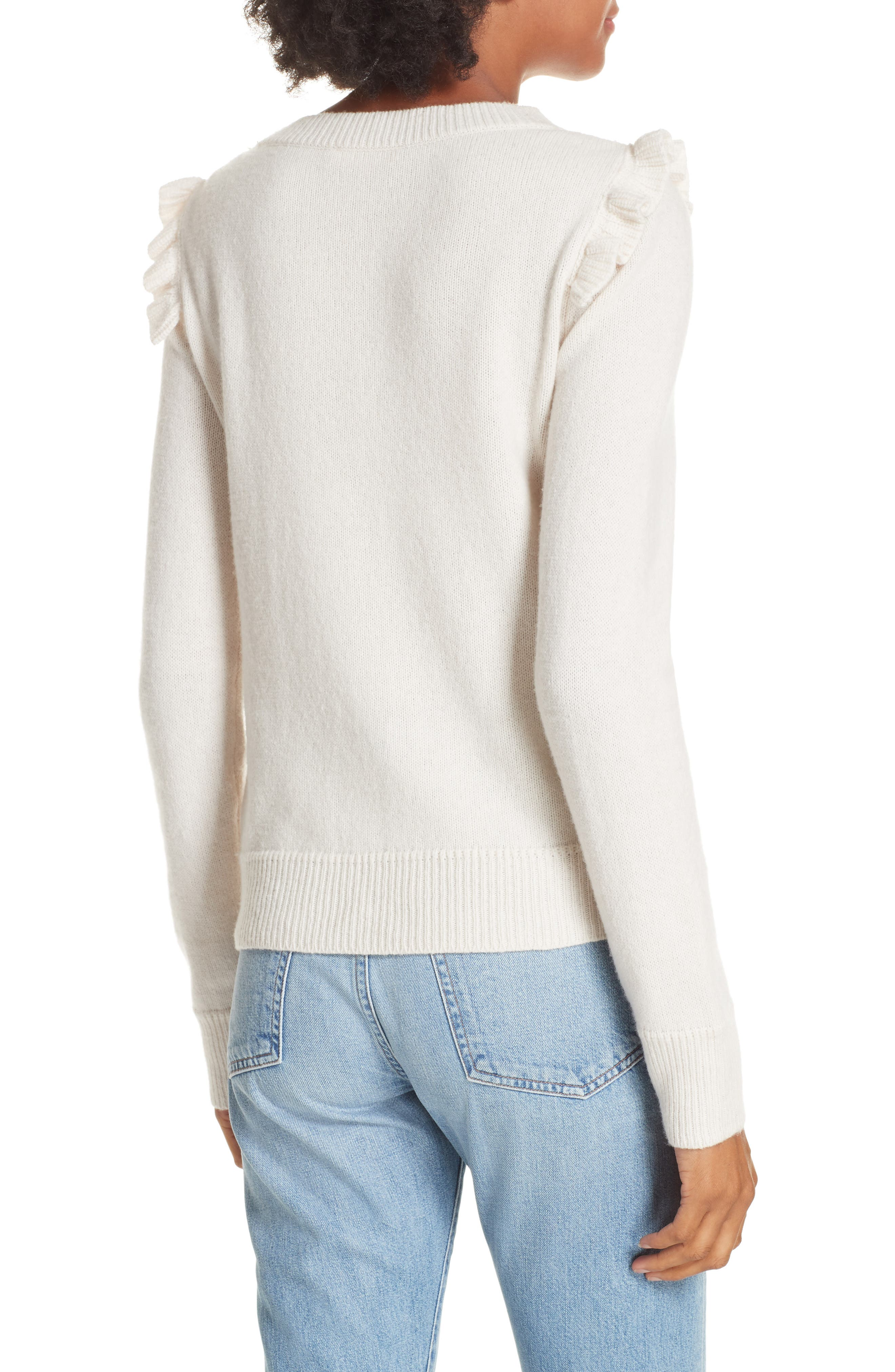 Emilie Embroidered Sweater,                             Alternate thumbnail 2, color,                             CREAM