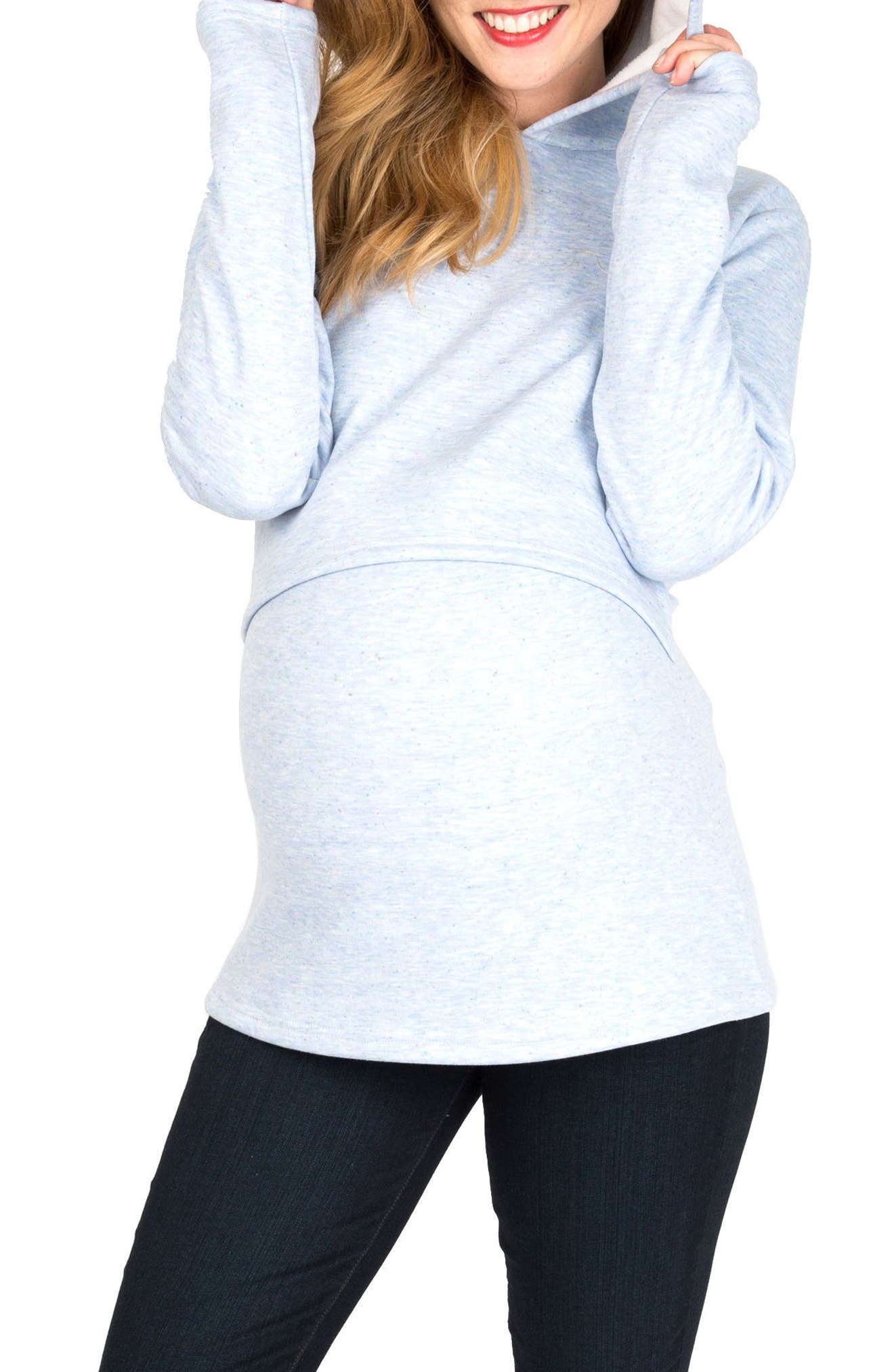 Rory Maternity/Nursing Hoodie,                         Main,                         color, AZUL