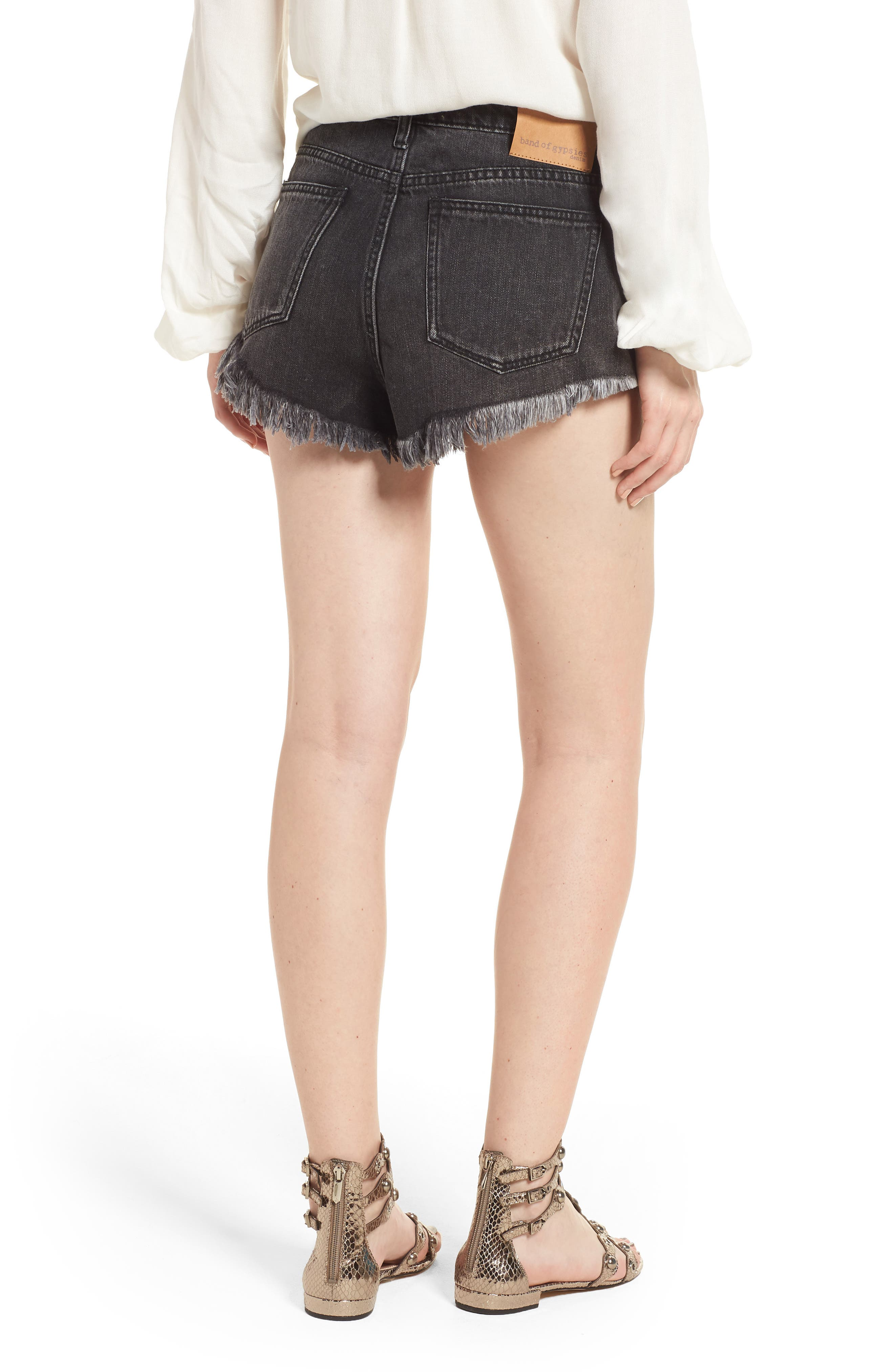 Riley Denim Shorts,                             Alternate thumbnail 2, color,
