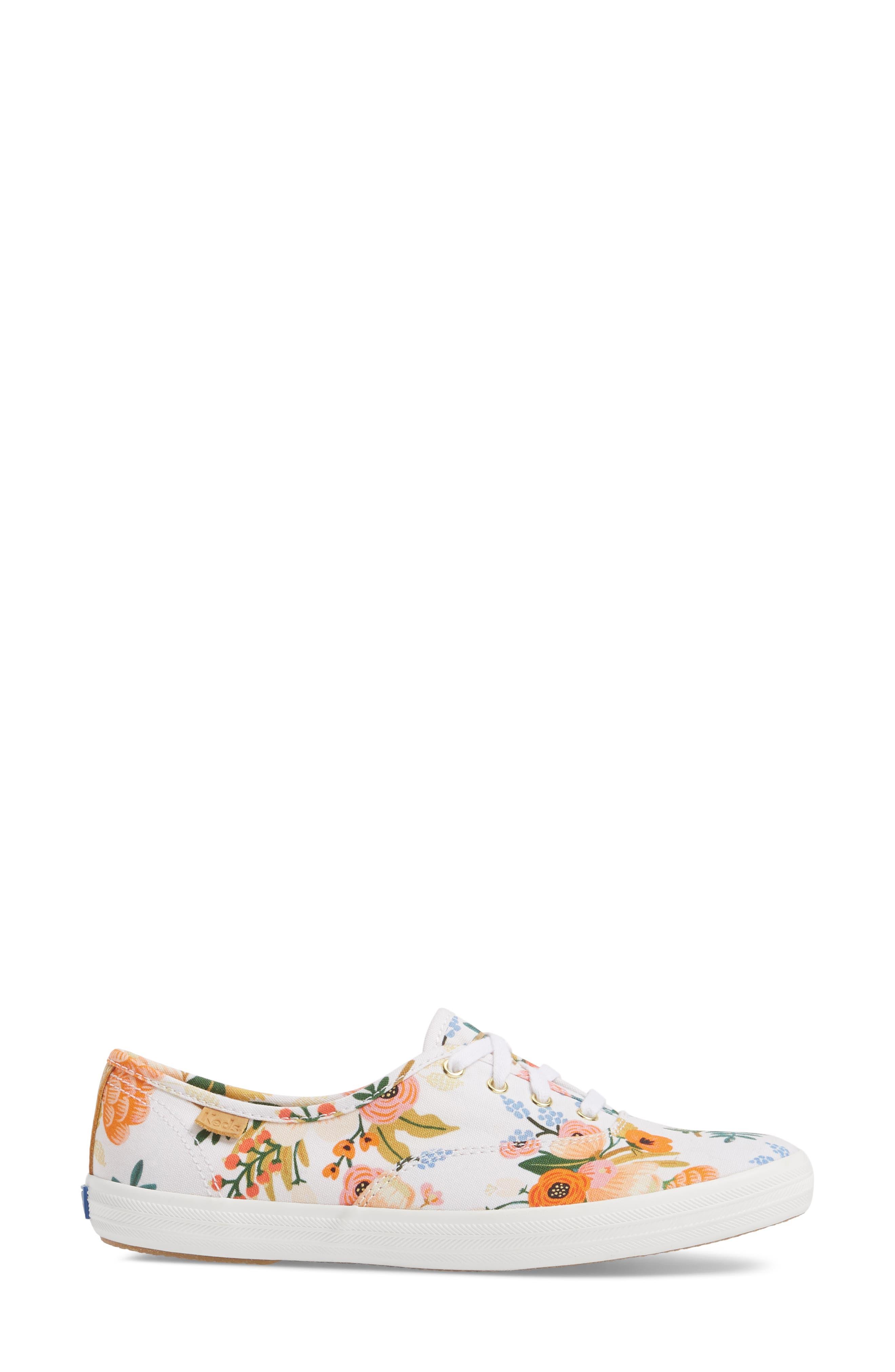 x Rifle Paper Co. Champion Floral Print Sneaker,                             Alternate thumbnail 3, color,                             WHITE