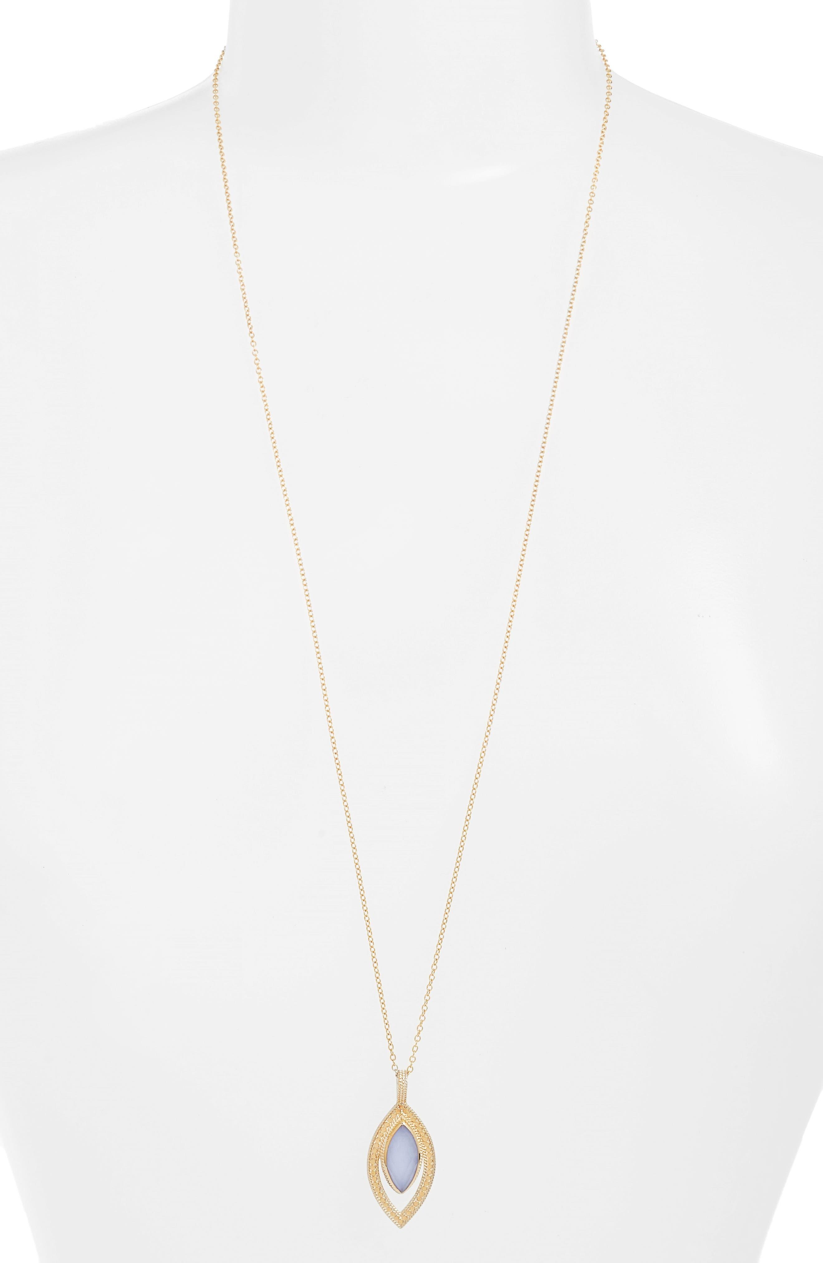 Chalcedony Doublet Pendant Necklace,                             Main thumbnail 1, color,                             400