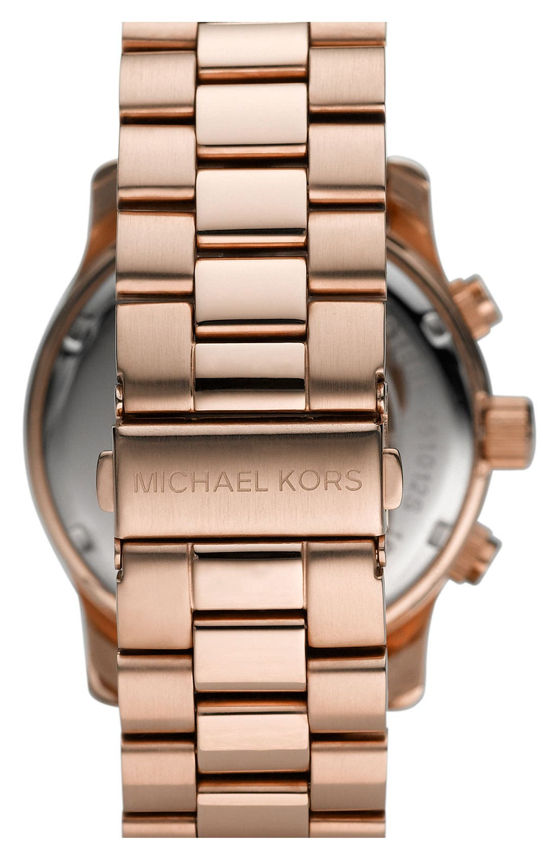 'Large Runway' Rose Gold Plated Watch, 45mm,                             Alternate thumbnail 2, color,                             710