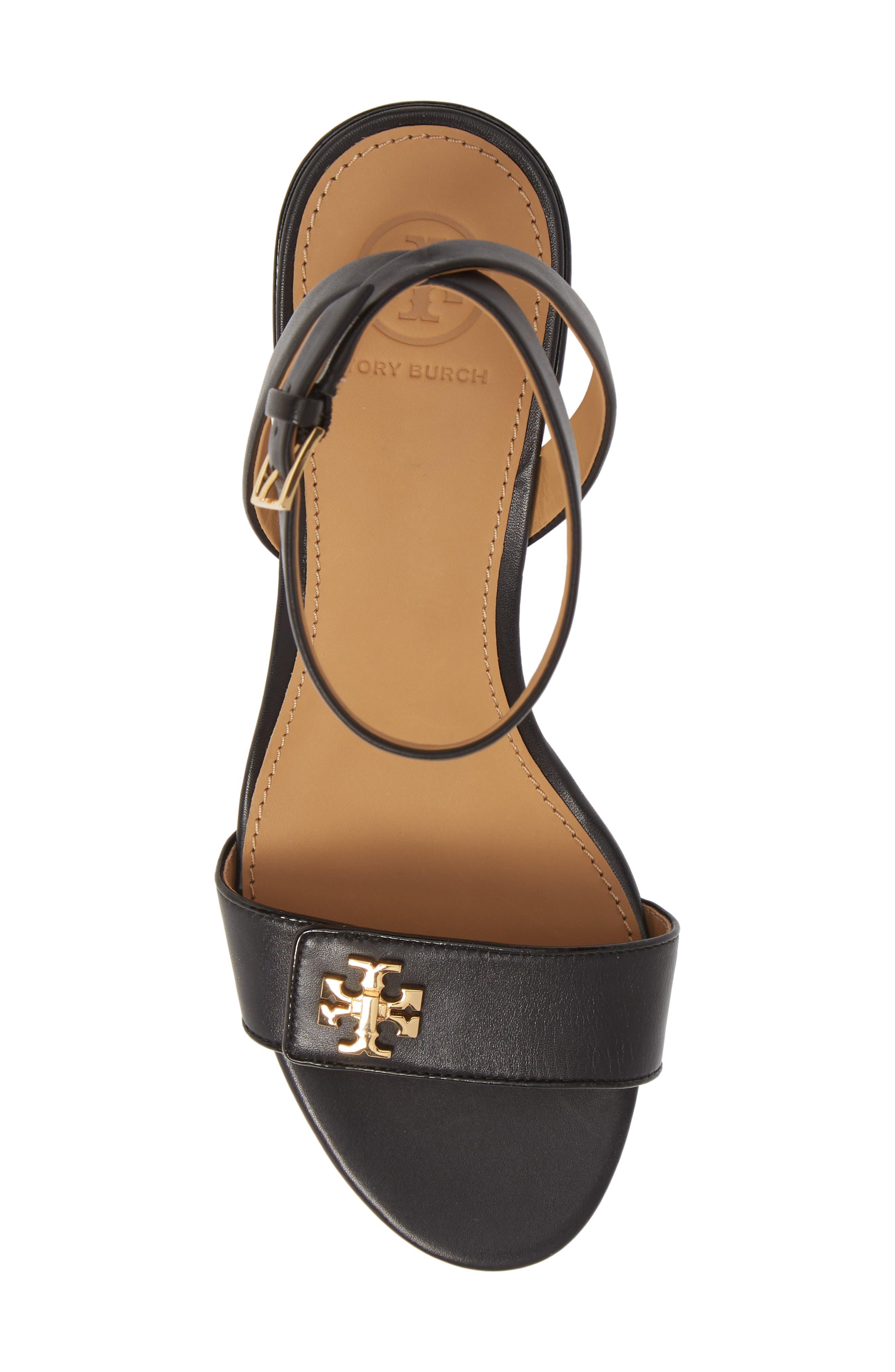 Kira Block Heel Sandal,                             Alternate thumbnail 5, color,                             PERFECT BLACK/ PERFECT BLACK