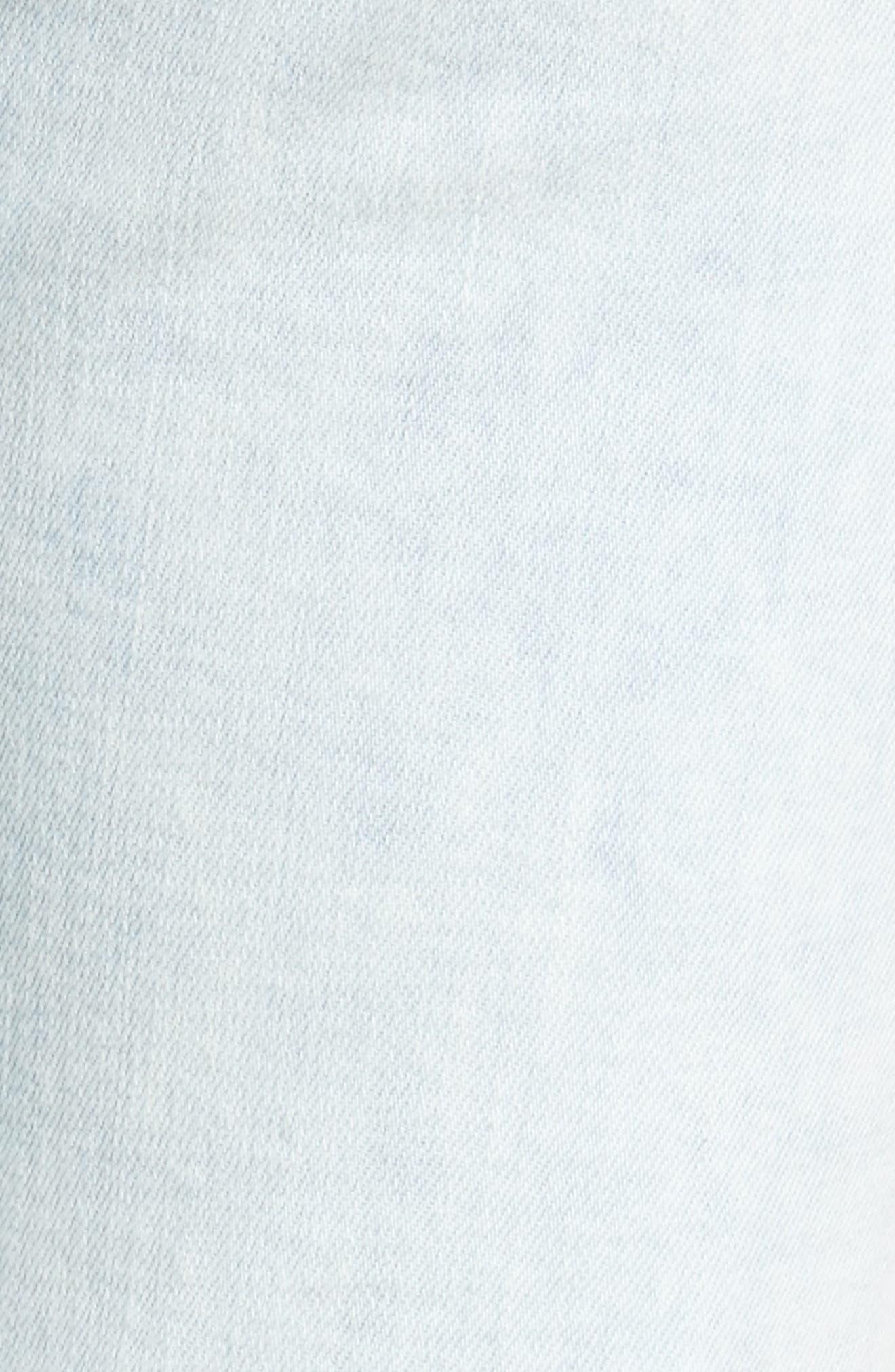 High Waist Ankle Skinny Jeans,                             Alternate thumbnail 5, color,                             401