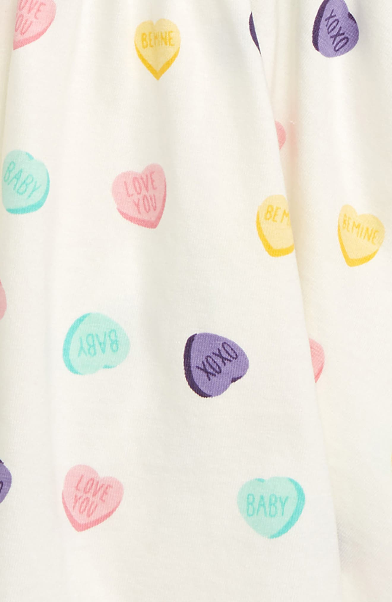 Let's Dance Sweetheart Organic Stretch Cotton Dress,                             Alternate thumbnail 3, color,                             SWEET HEARTS