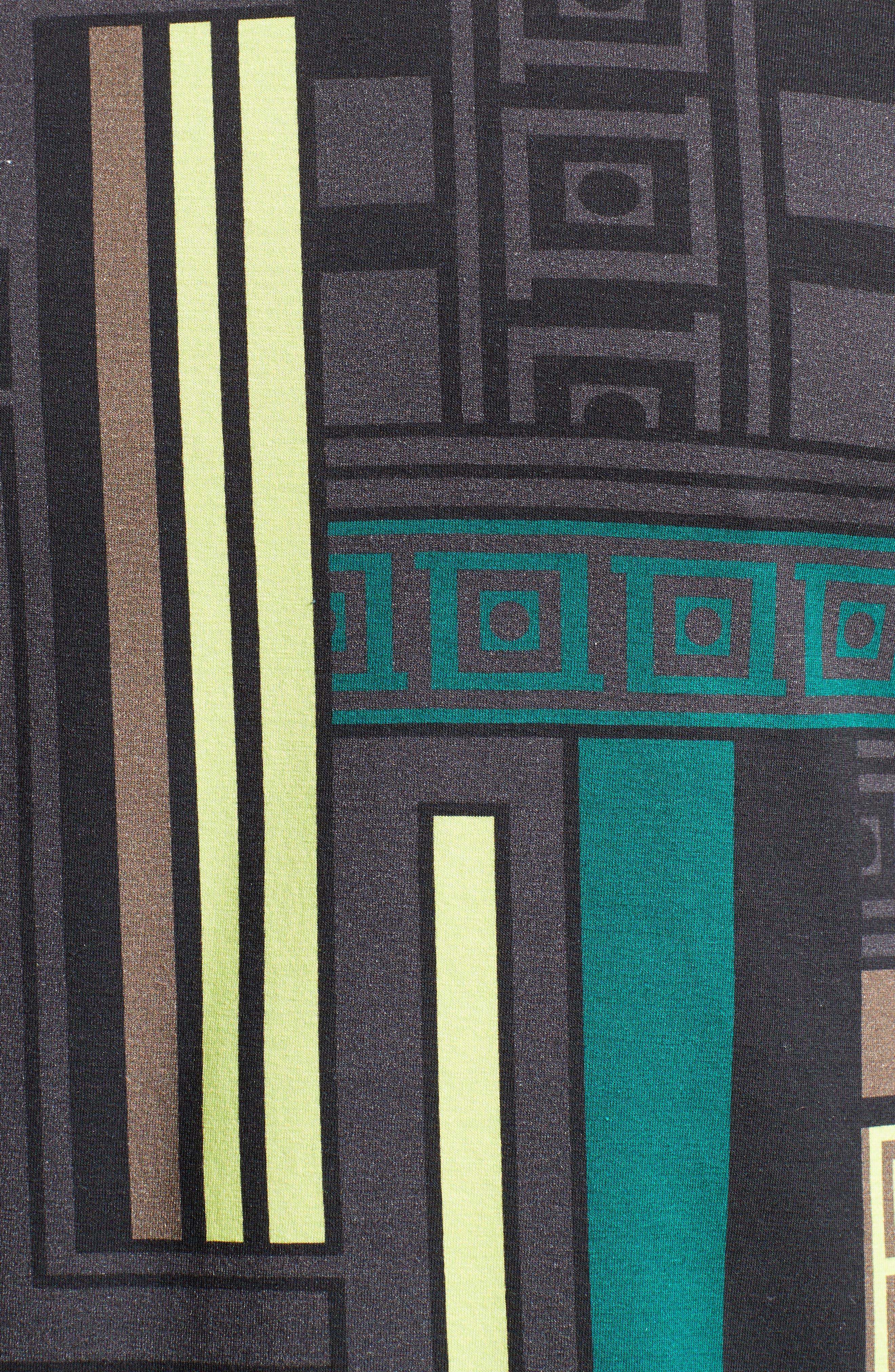 Allover Frame Print T-Shirt,                             Alternate thumbnail 5, color,                             333