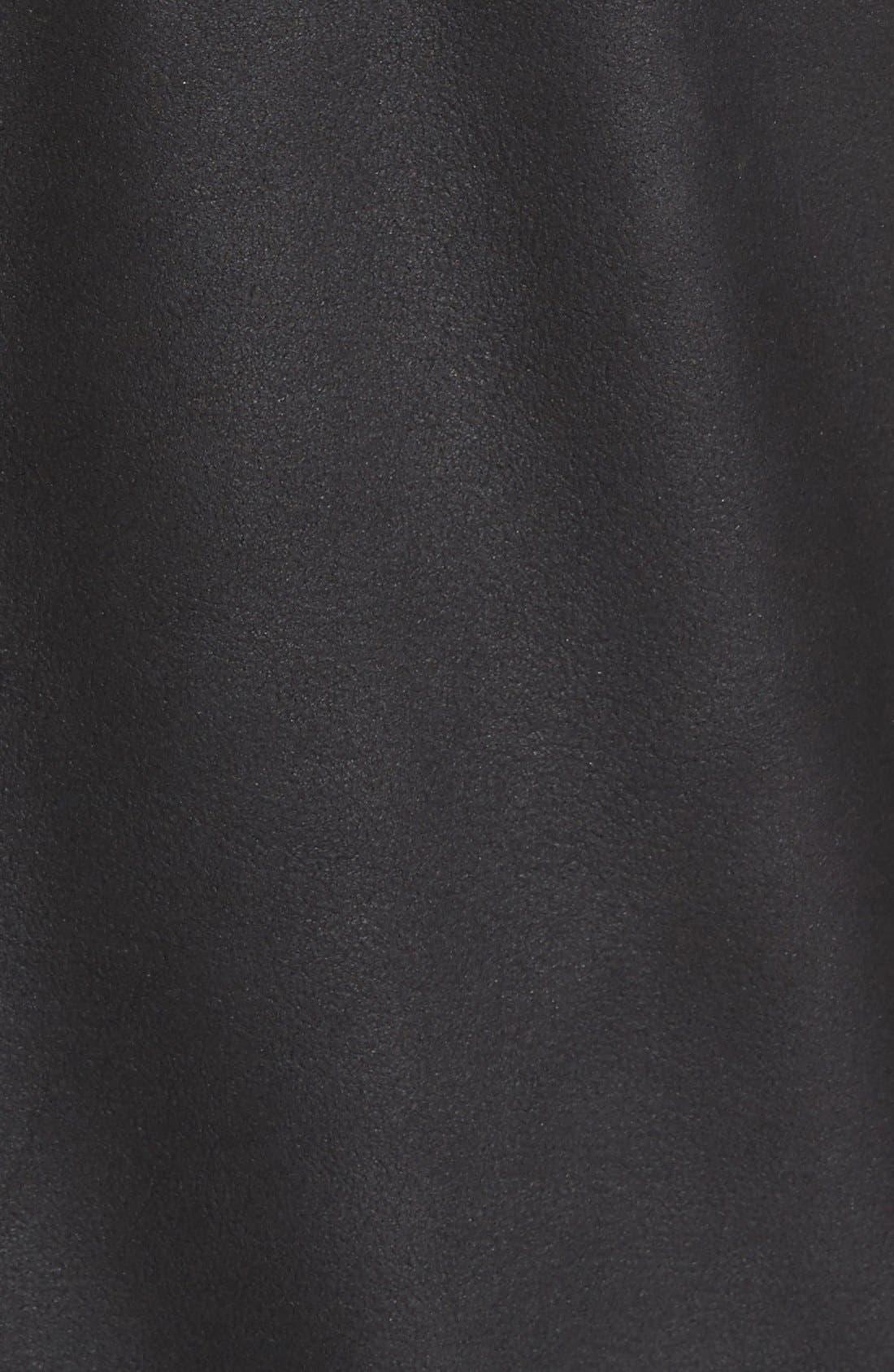 MissaniLe CollezioniLambskin Leather Jacket,                             Alternate thumbnail 5, color,                             BLACK