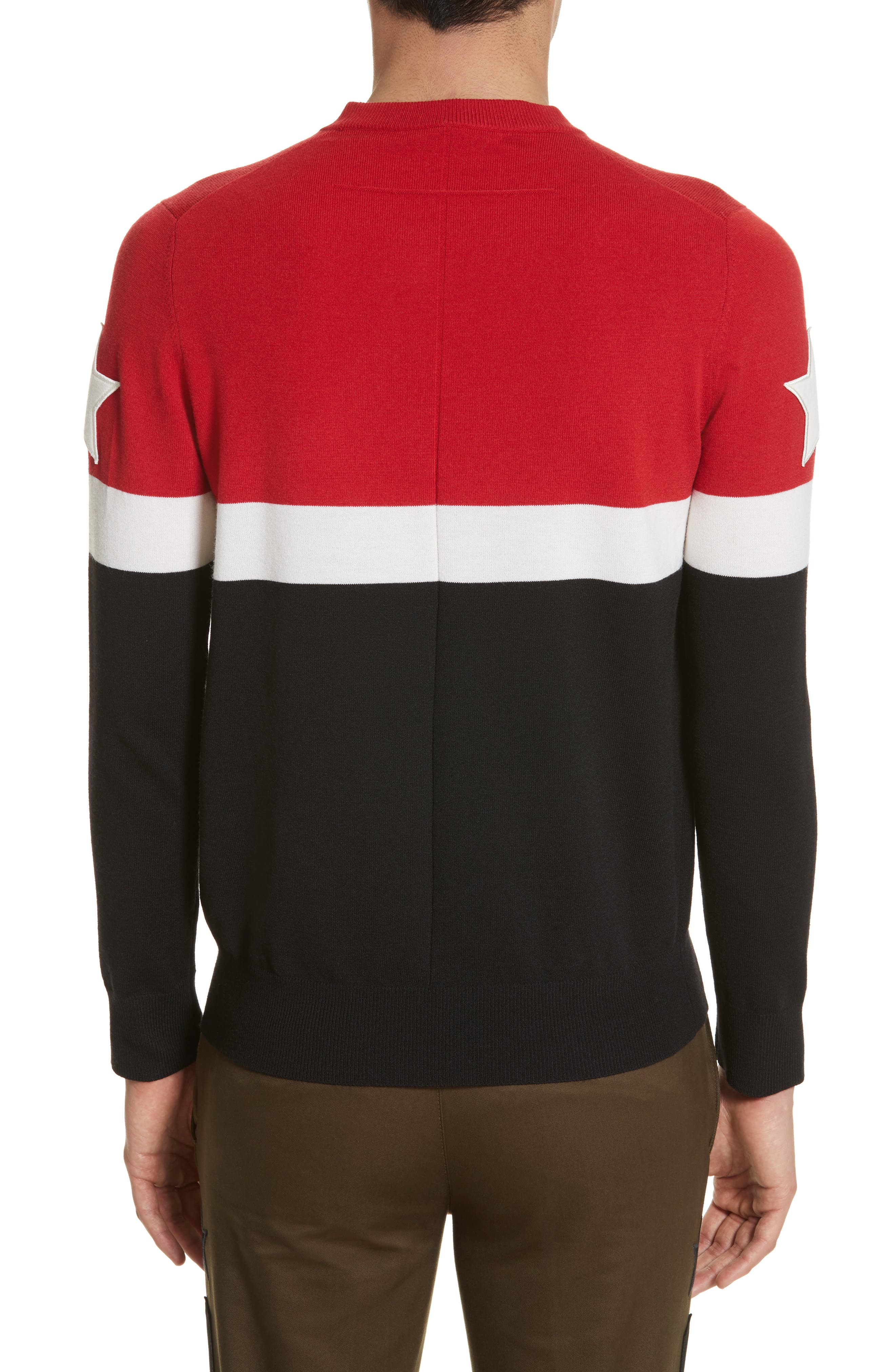 Stripe Wool Blend Pullover,                             Alternate thumbnail 2, color,                             001