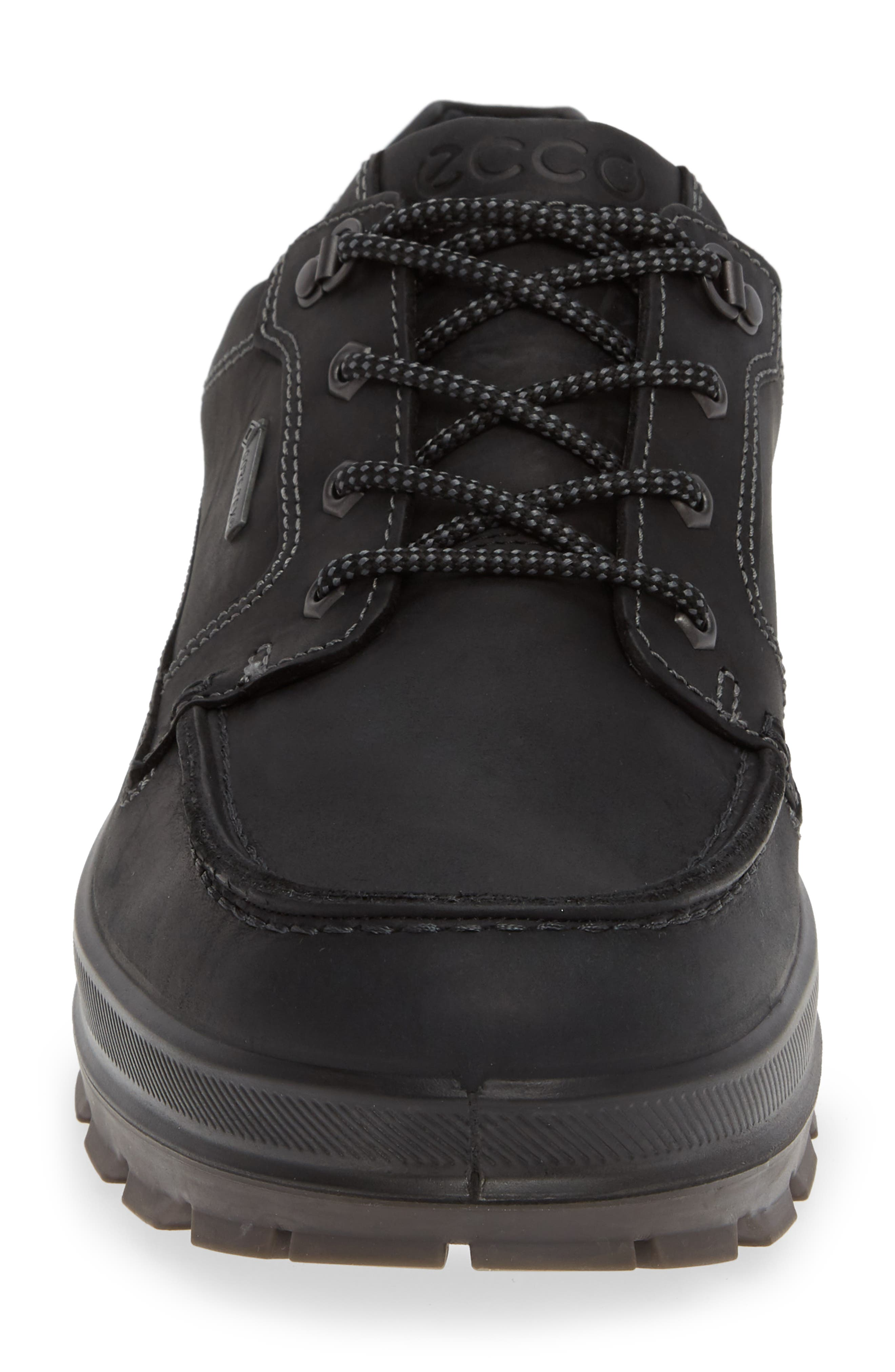 Rugged Track Low Gore-Tex<sup>®</sup> Oxford,                             Alternate thumbnail 4, color,                             BLACK LEATHER