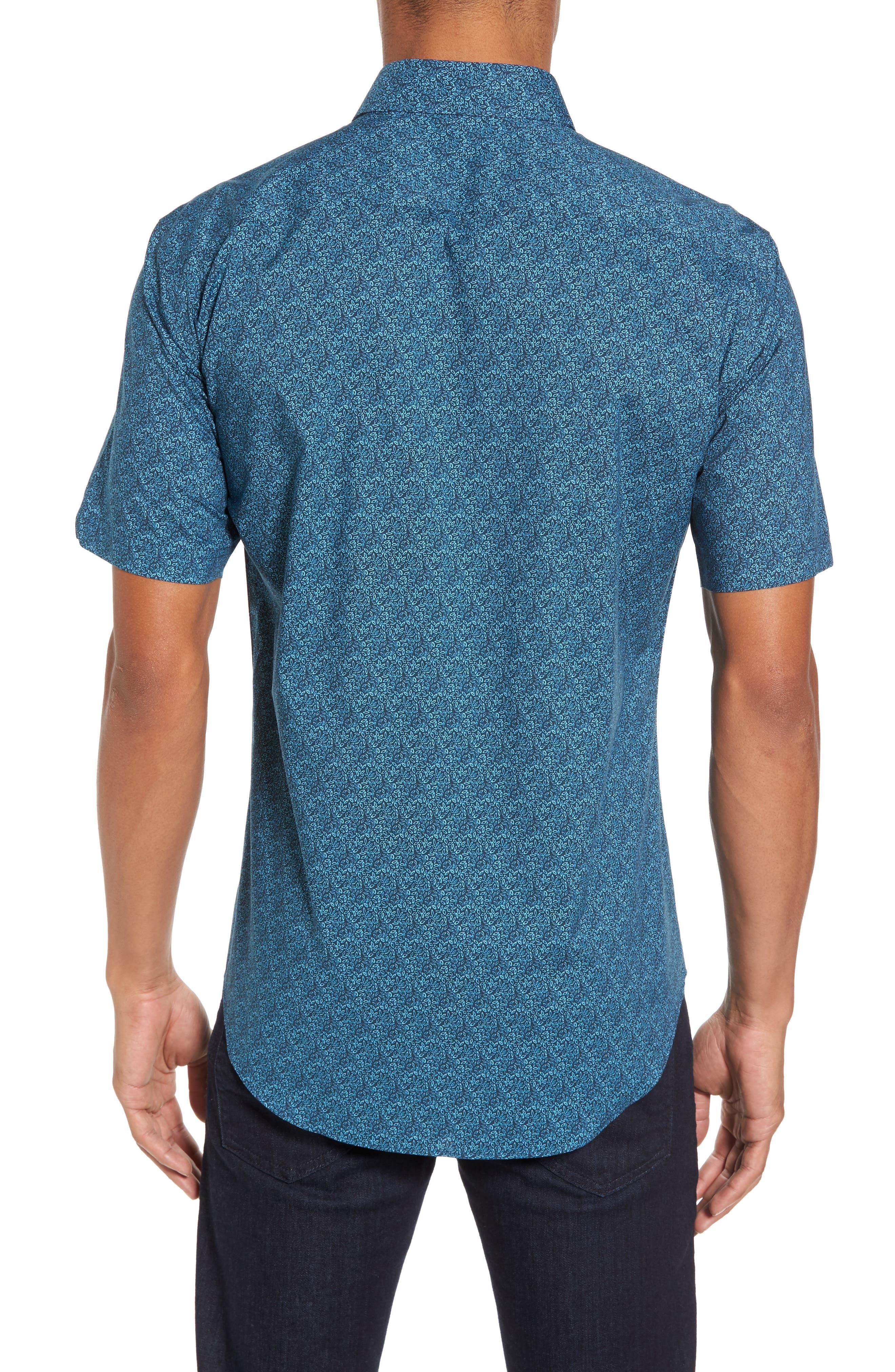 Machnee Slim Fit Print Sport Shirt,                             Alternate thumbnail 2, color,                             401