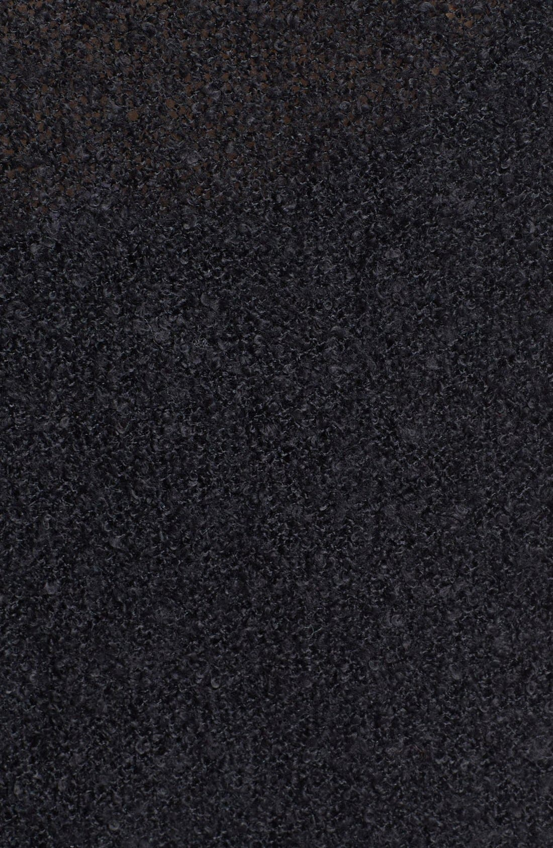 'Grunge' Textured Sweater,                             Alternate thumbnail 3, color,                             001