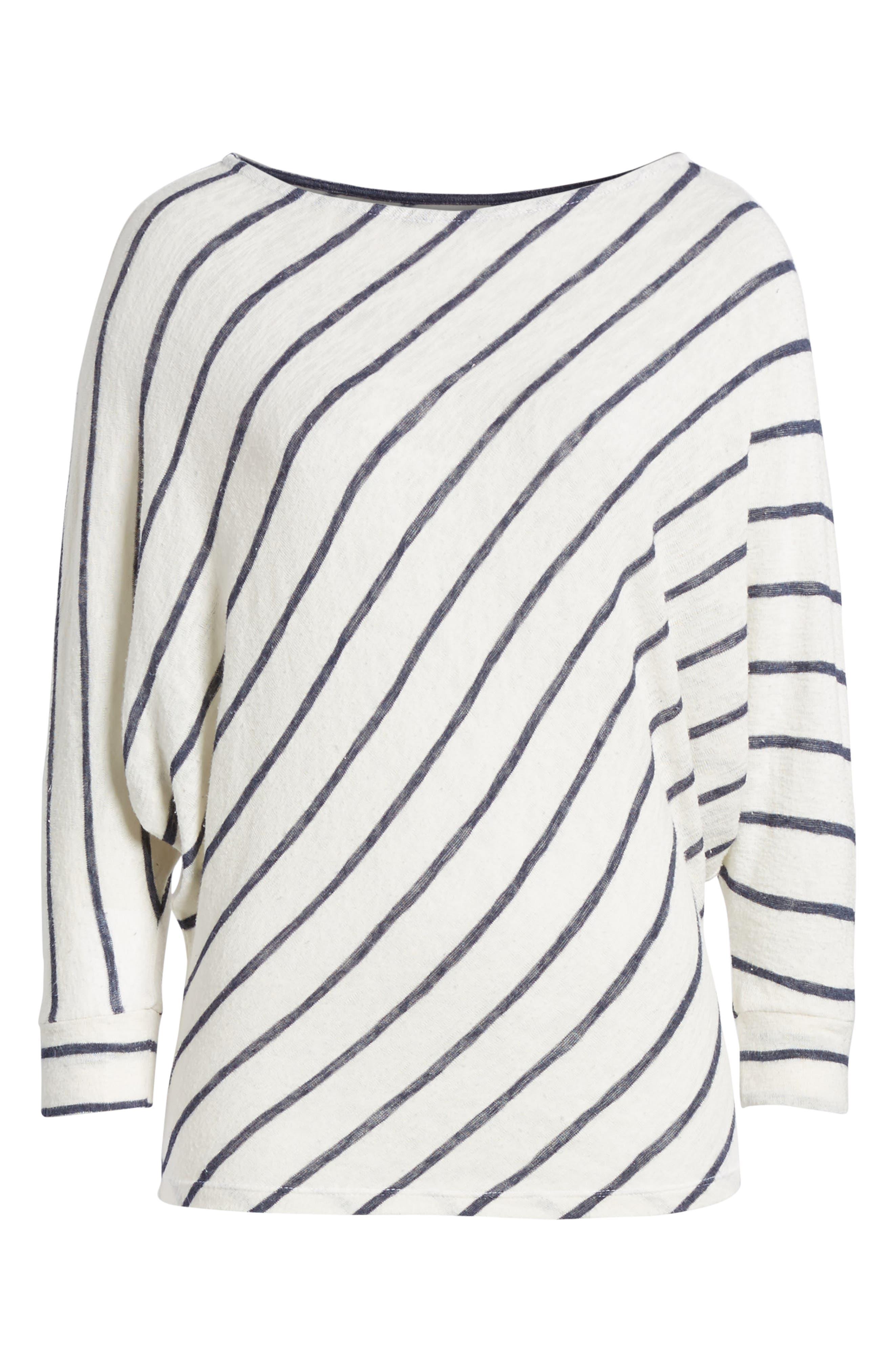 Stripe Dolman Sleeve Top,                             Alternate thumbnail 7, color,                             195