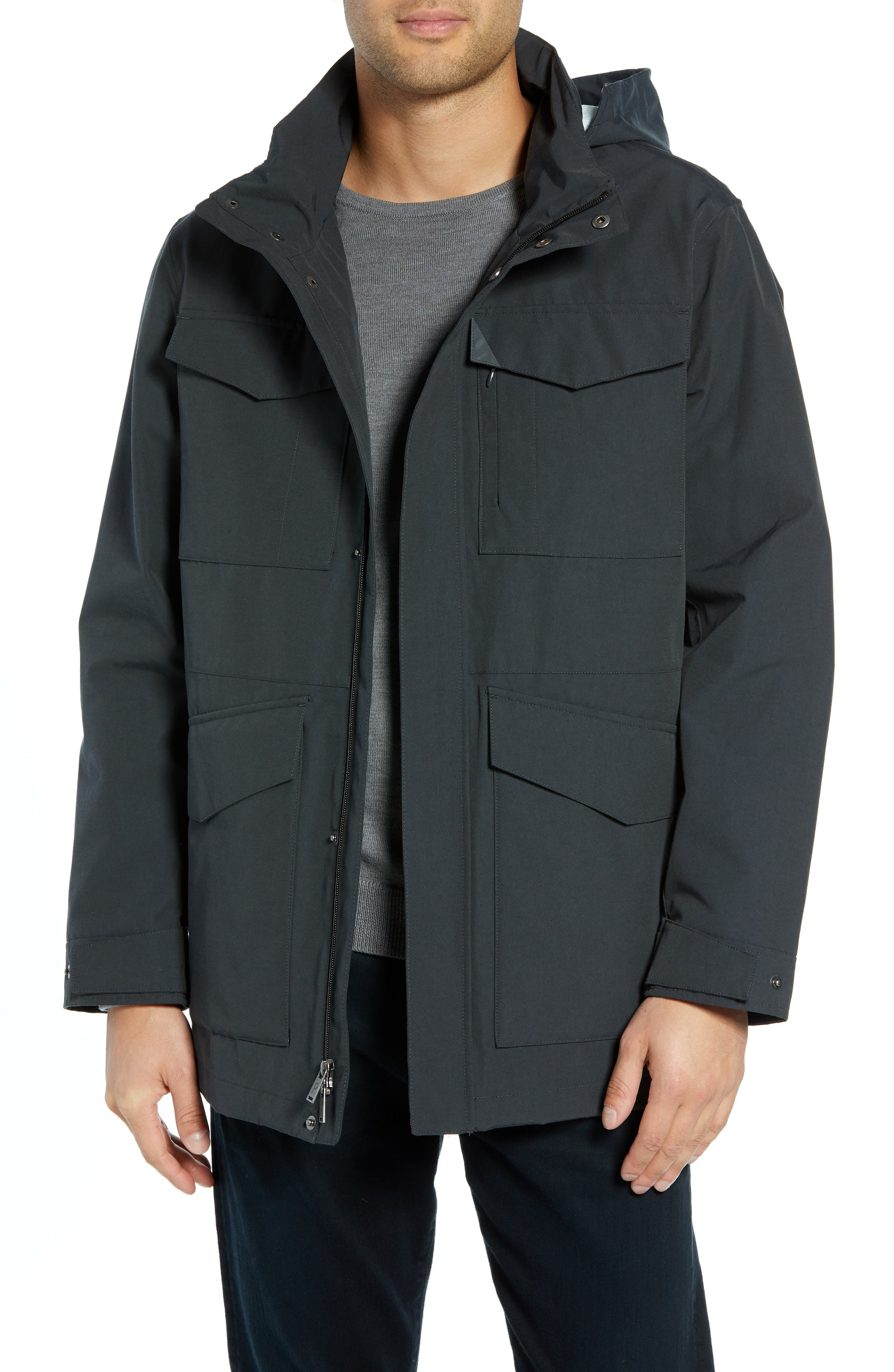 Clyde Hill Commuter Coat,                         Main,                         color, SLATE