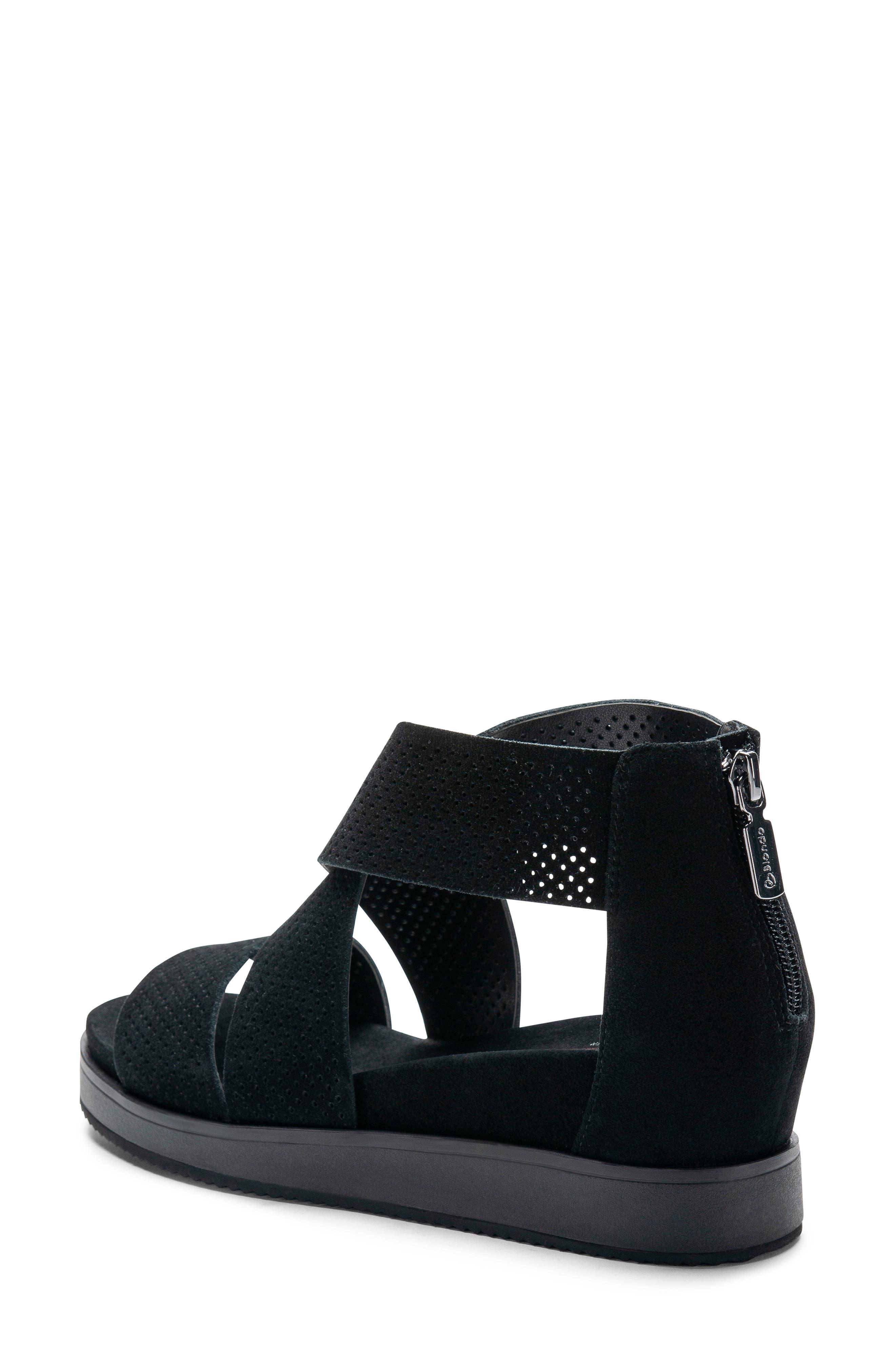 Cassie Waterproof Sandal,                             Alternate thumbnail 2, color,                             BLACK SUEDE