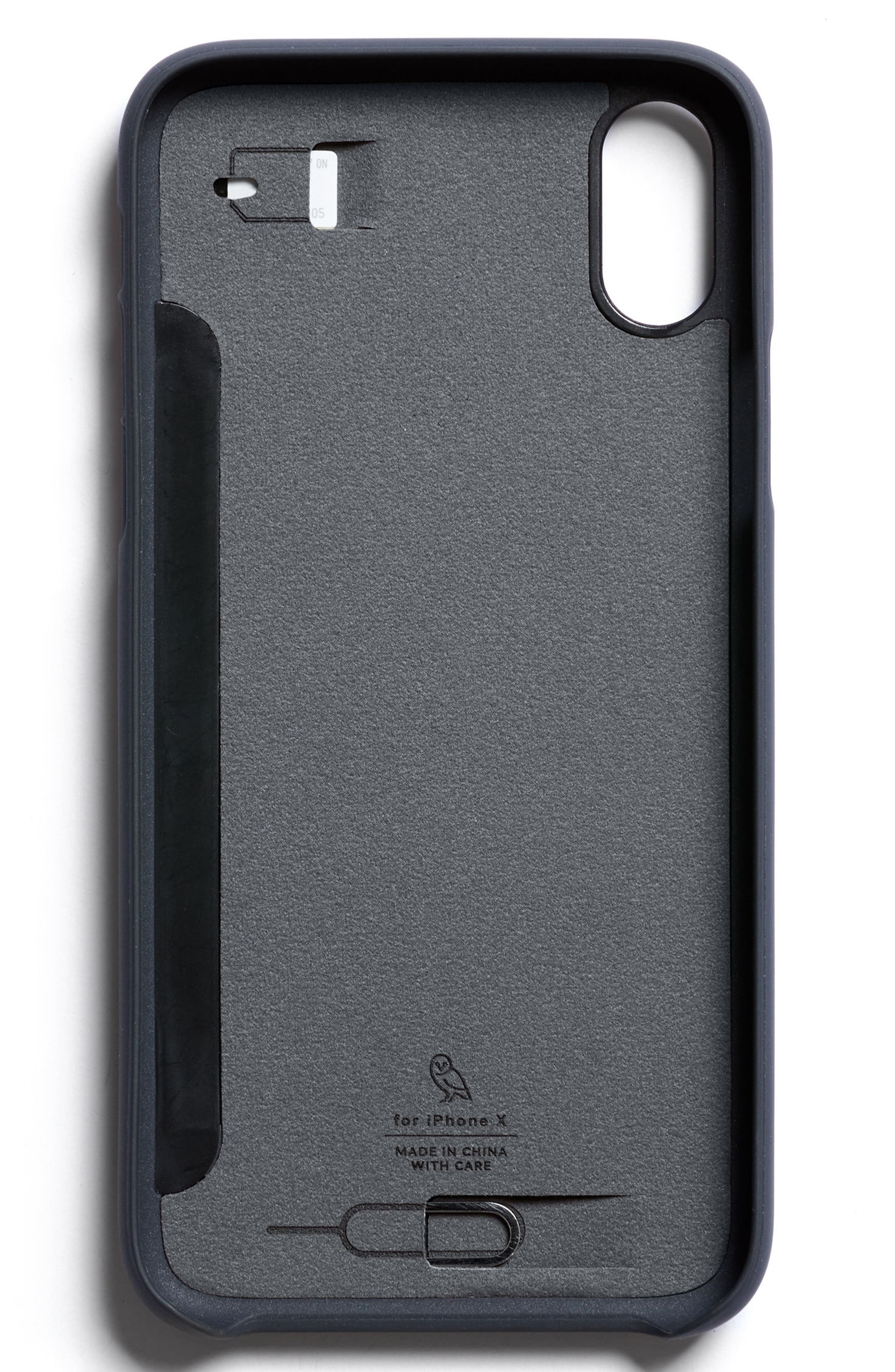 Three Card iPhone X & Xs Case,                             Alternate thumbnail 8, color,