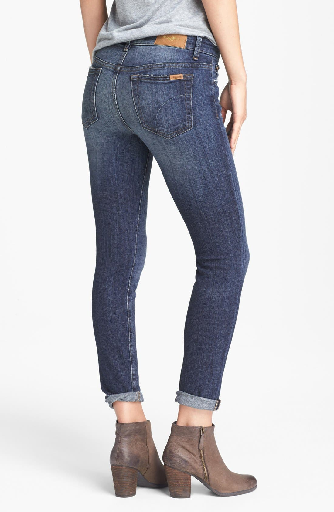 Straight Leg Ankle Jeans,                             Alternate thumbnail 2, color,                             400
