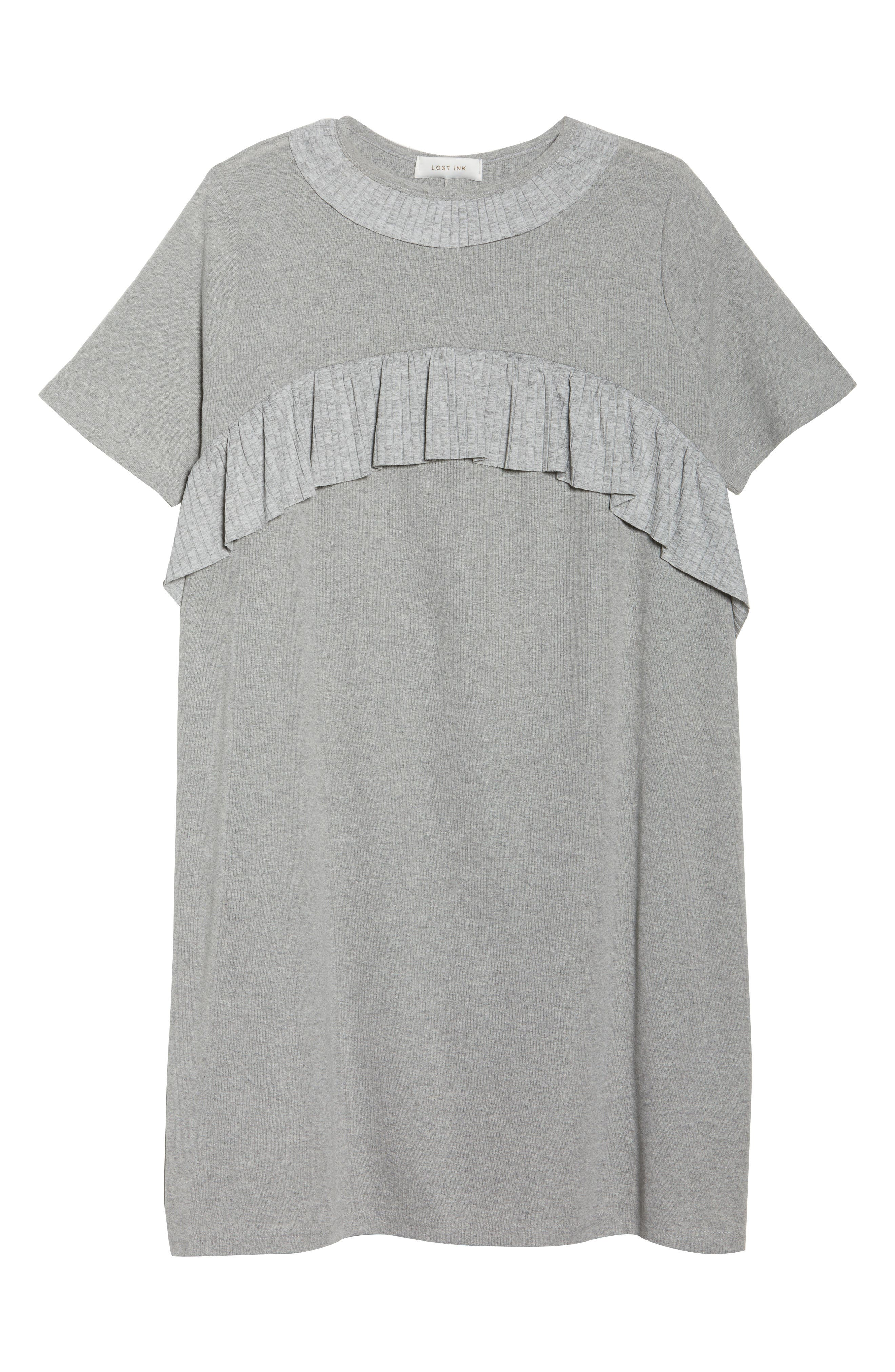 Pleated Frill Swing Dress,                             Alternate thumbnail 6, color,                             020