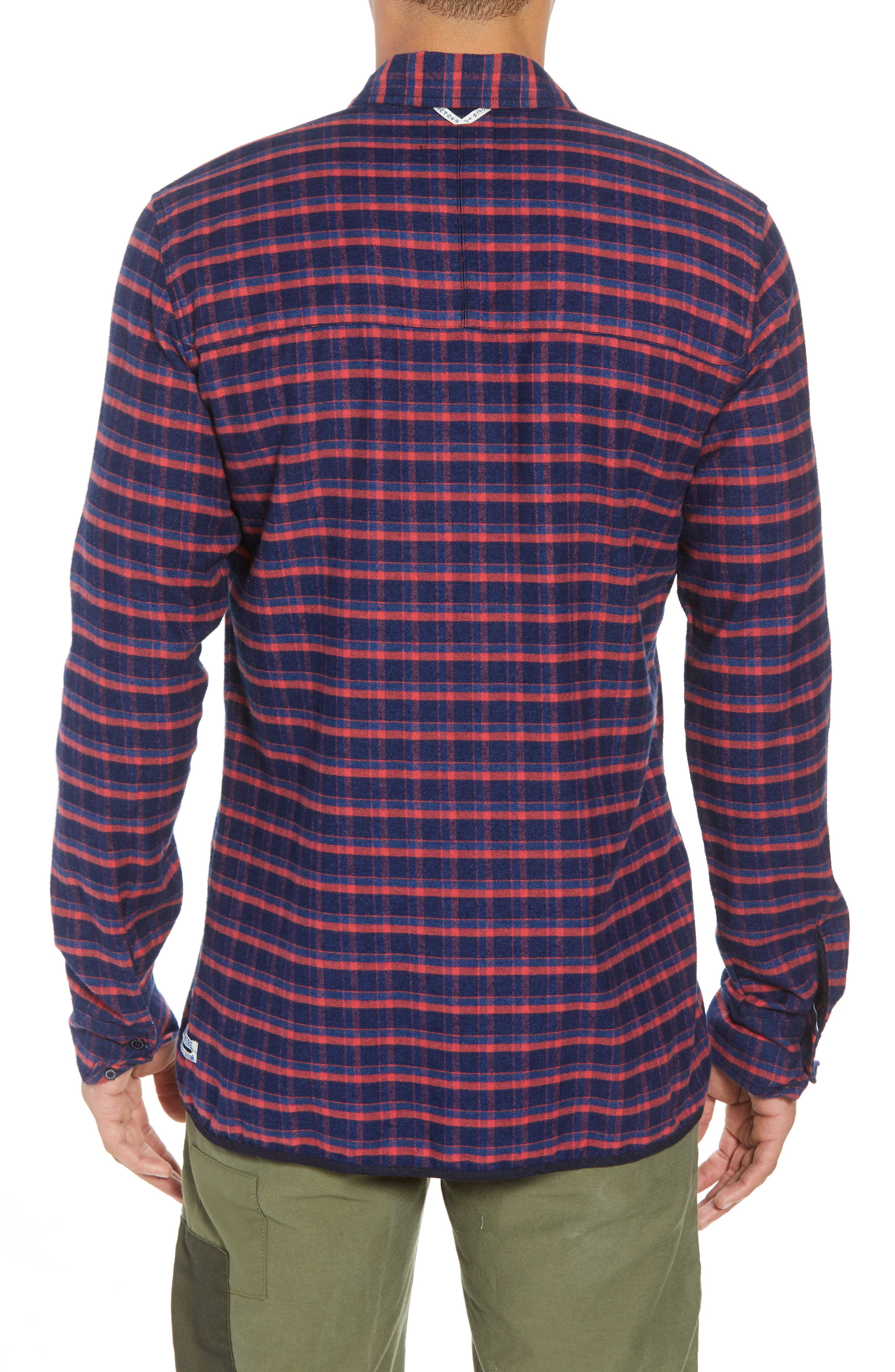 Amsterdams Blauw Check Flannel Sport Shirt,                             Alternate thumbnail 2, color,                             411