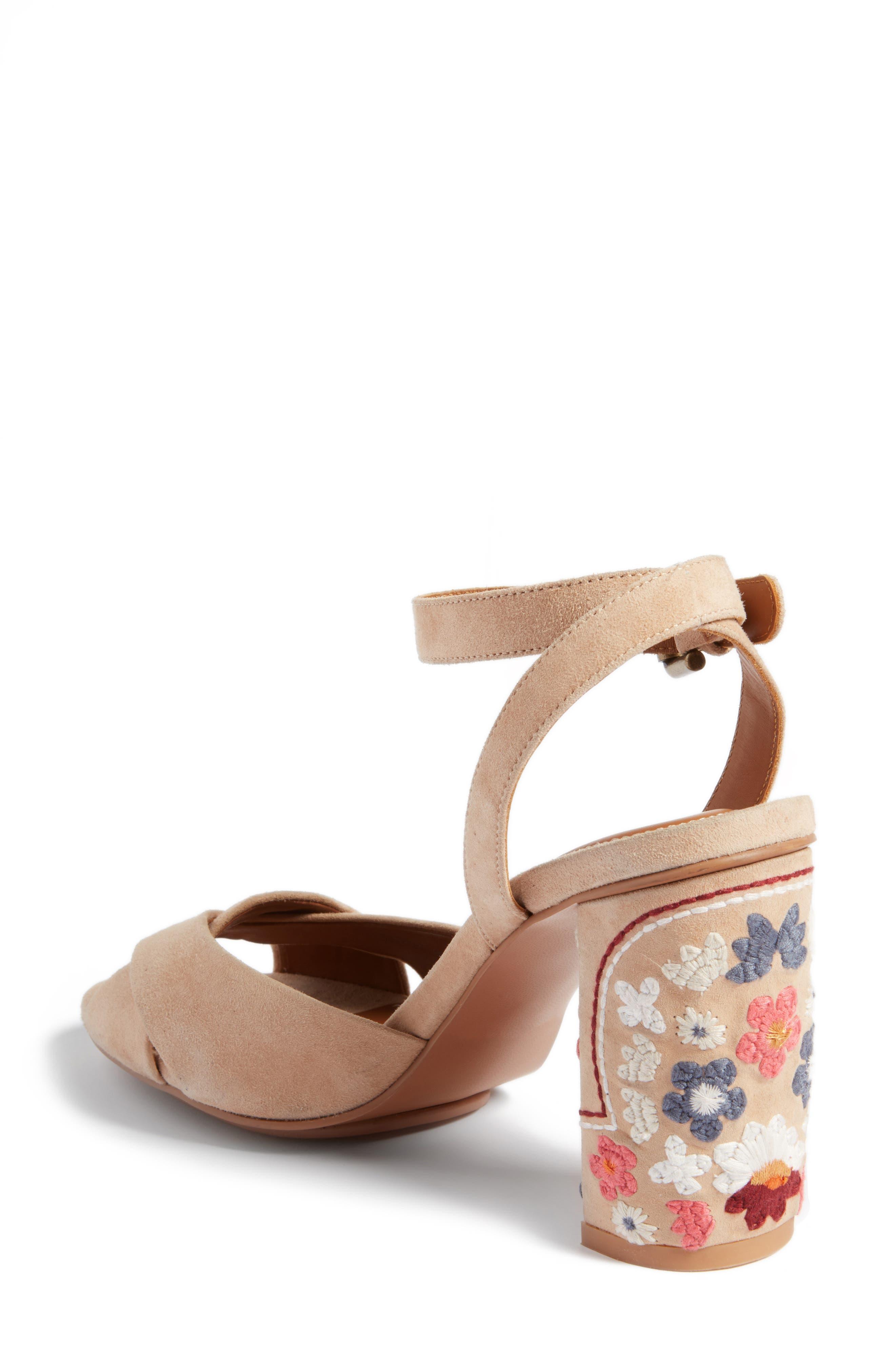 Gayla Embroidered Block Heel Sandal,                             Alternate thumbnail 2, color,                             250