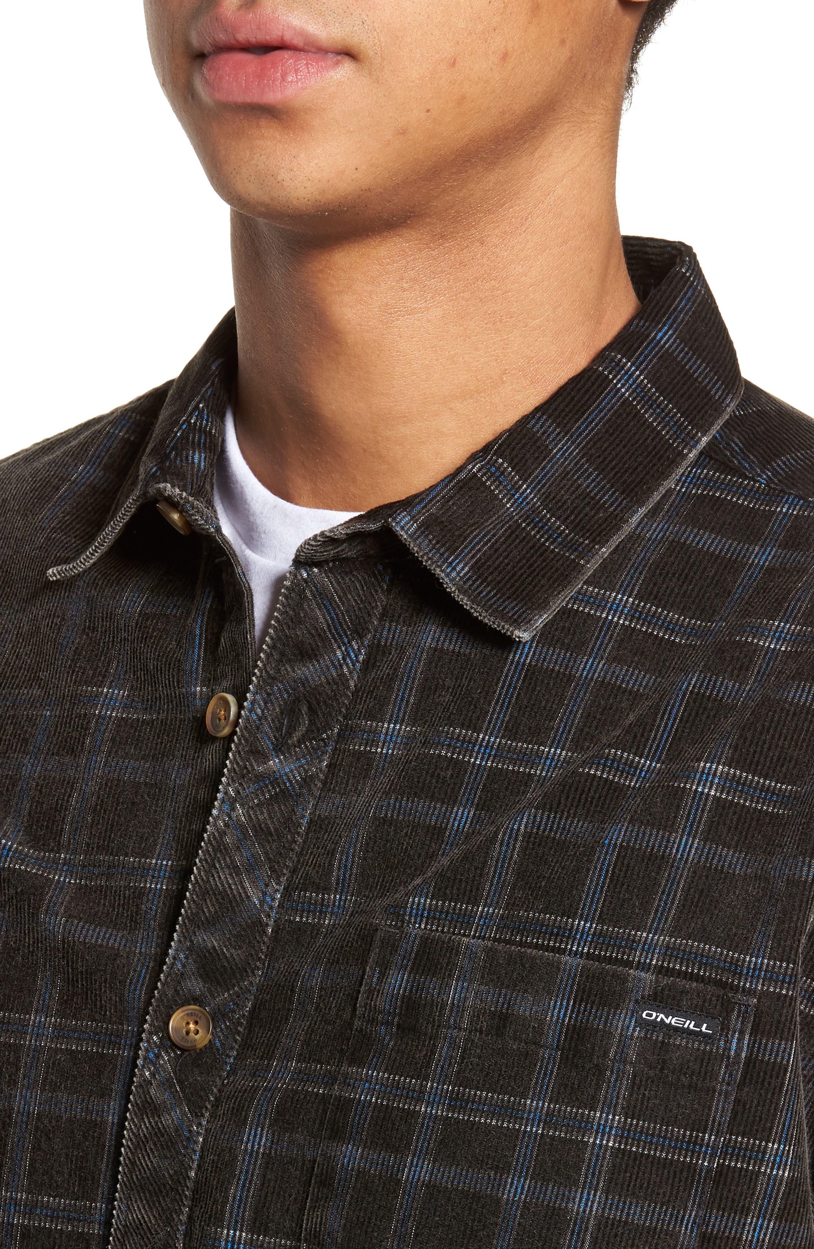 Bradley Corduroy Shirt,                             Alternate thumbnail 4, color,                             001