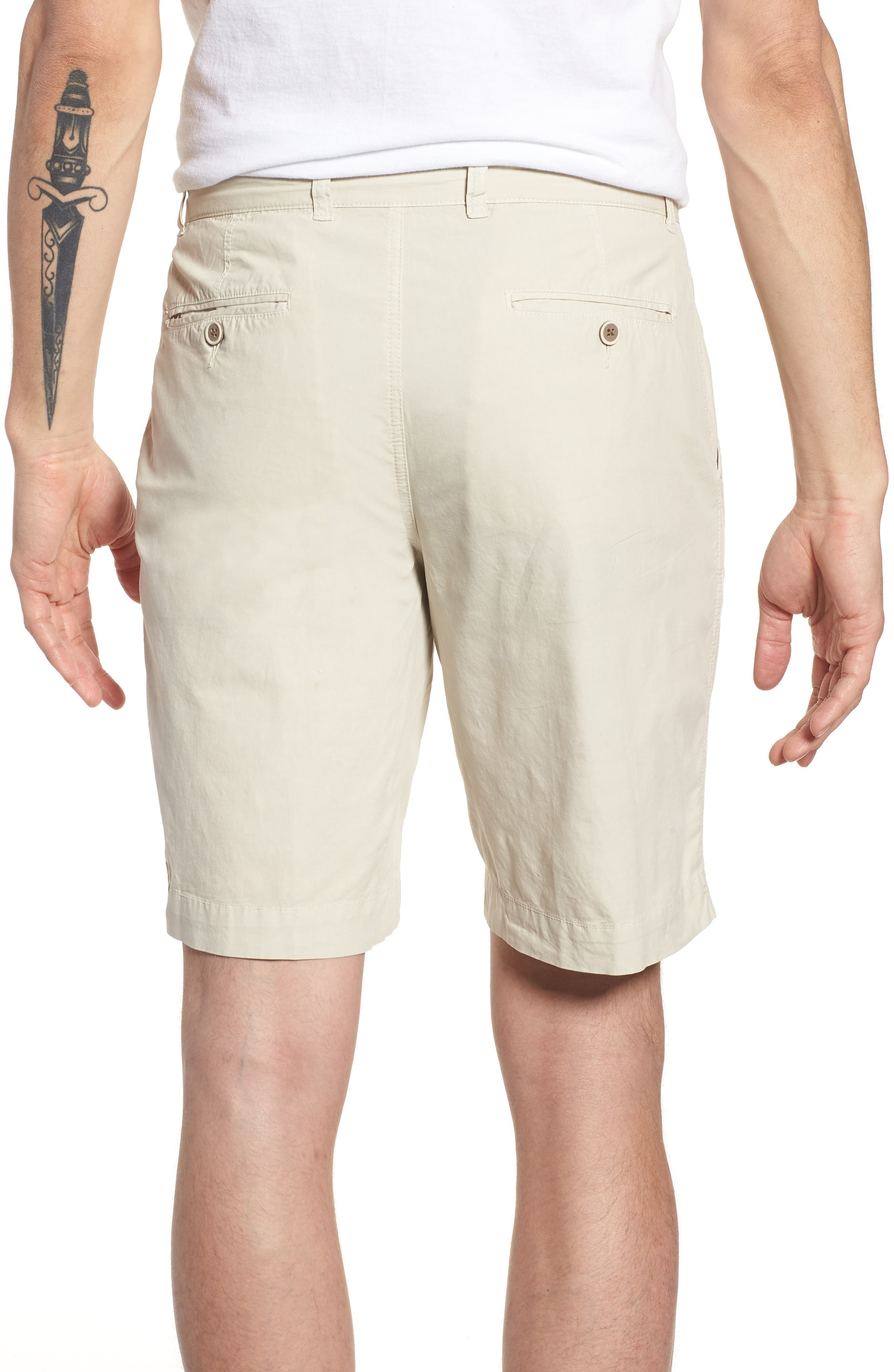 Stretch Poplin Shorts,                             Alternate thumbnail 2, color,                             020