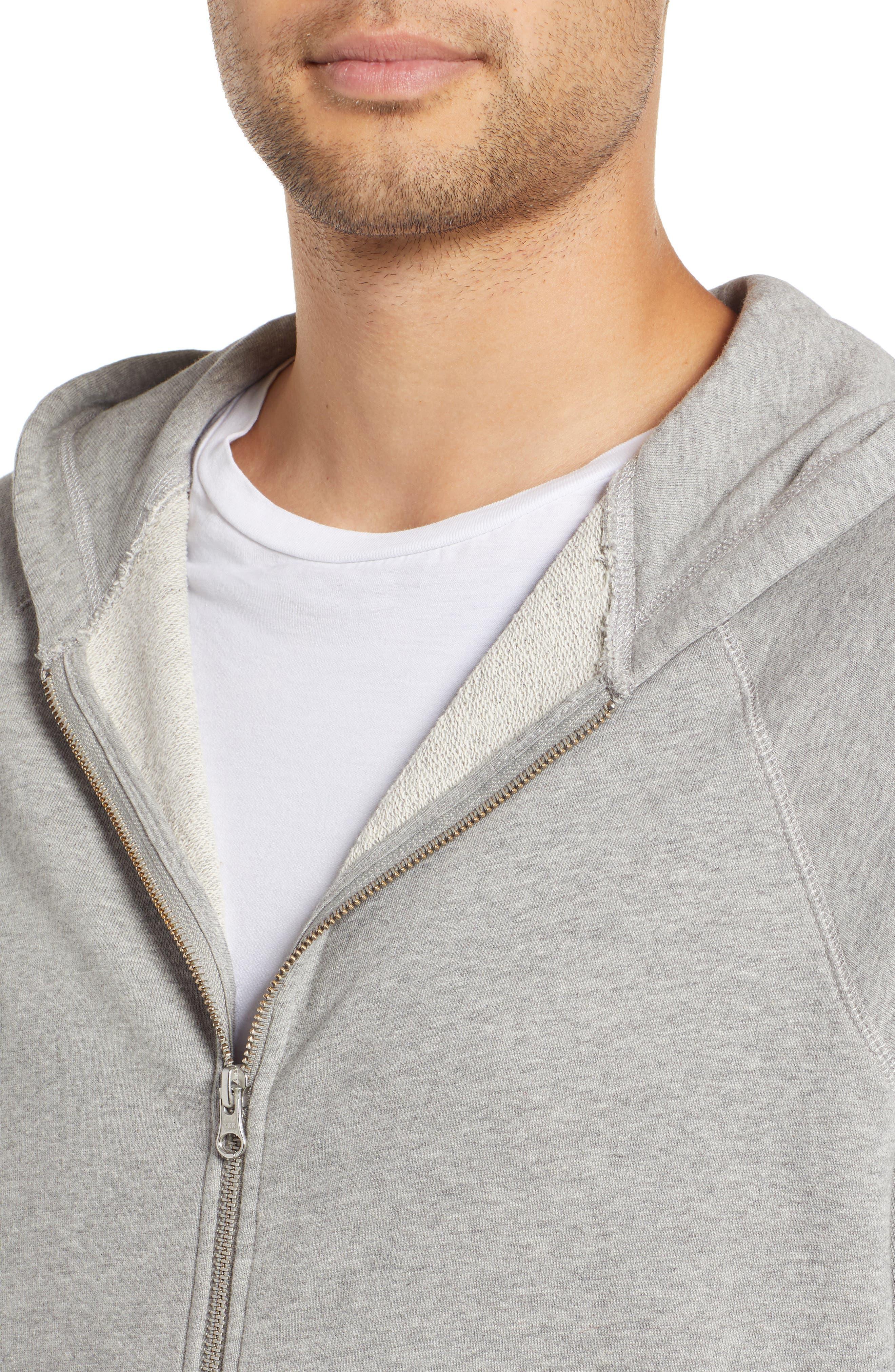 Pause Hooded Zip Sweatshirt,                             Alternate thumbnail 4, color,                             GREY MELANGE