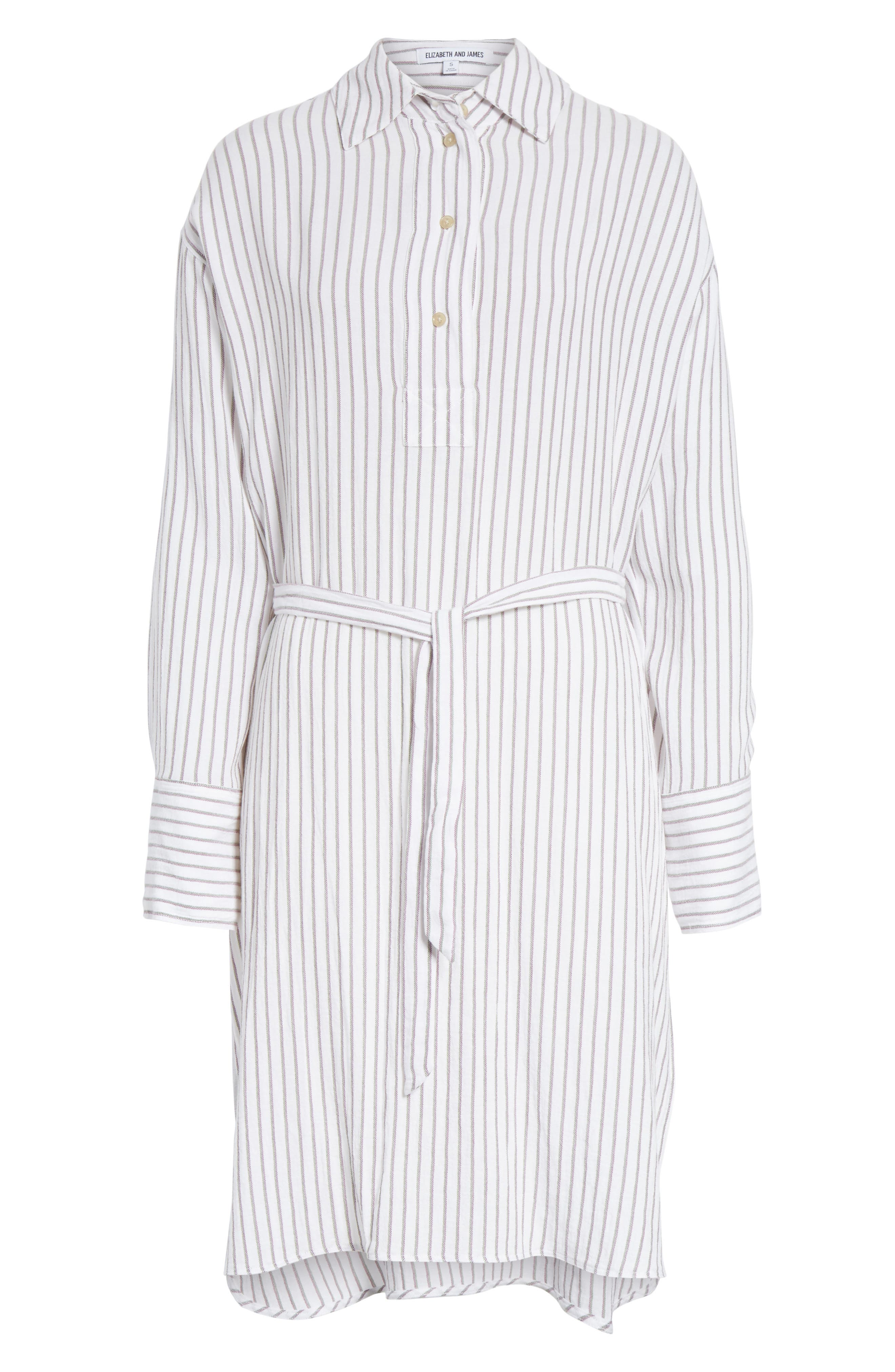 Tawerence Stripe Belted Tunic,                             Alternate thumbnail 6, color,
