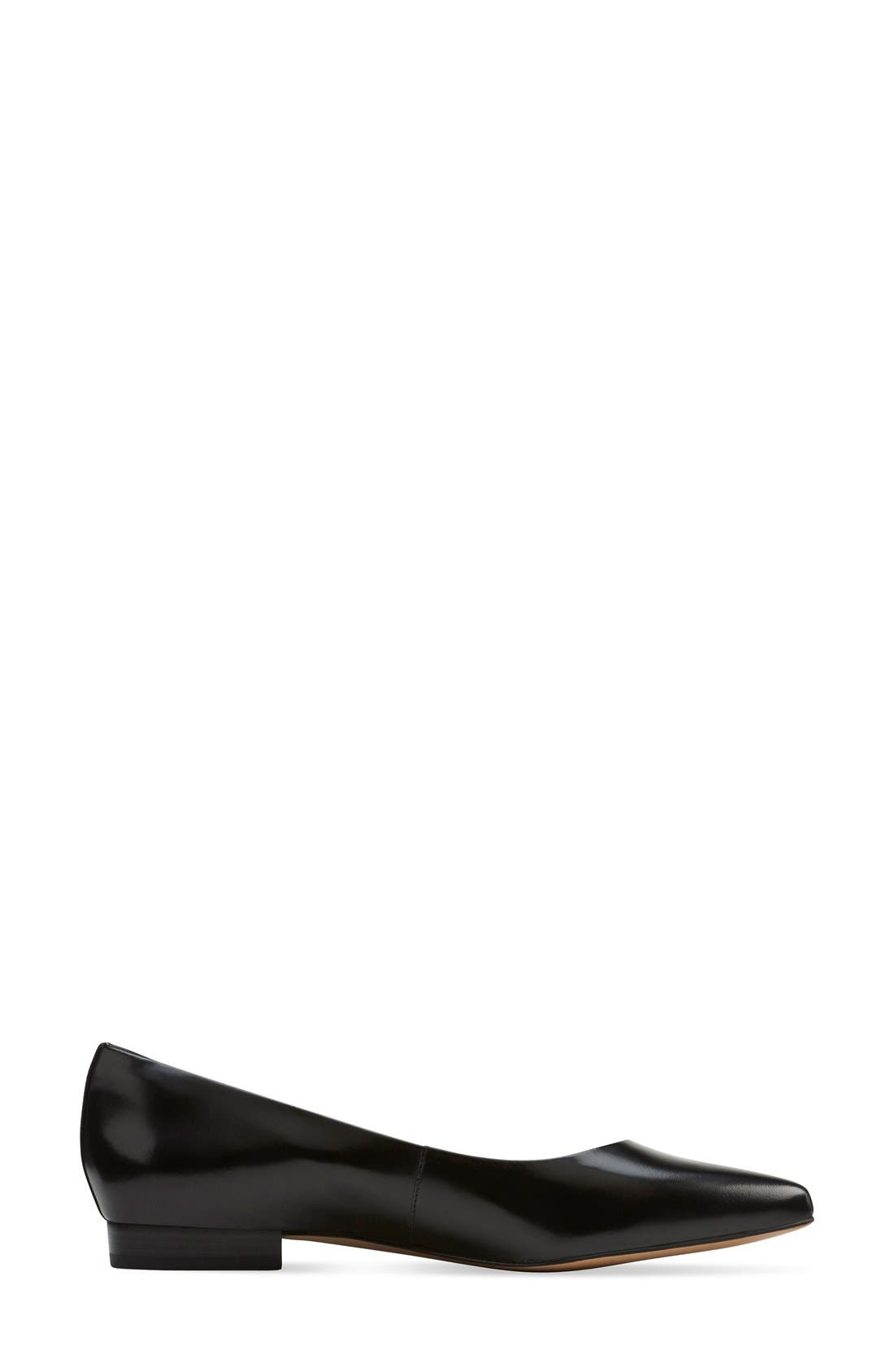 CLARKS<SUP>®</SUP>,                             'Corabeth Abby' Pointy Toe Flat,                             Alternate thumbnail 4, color,                             003