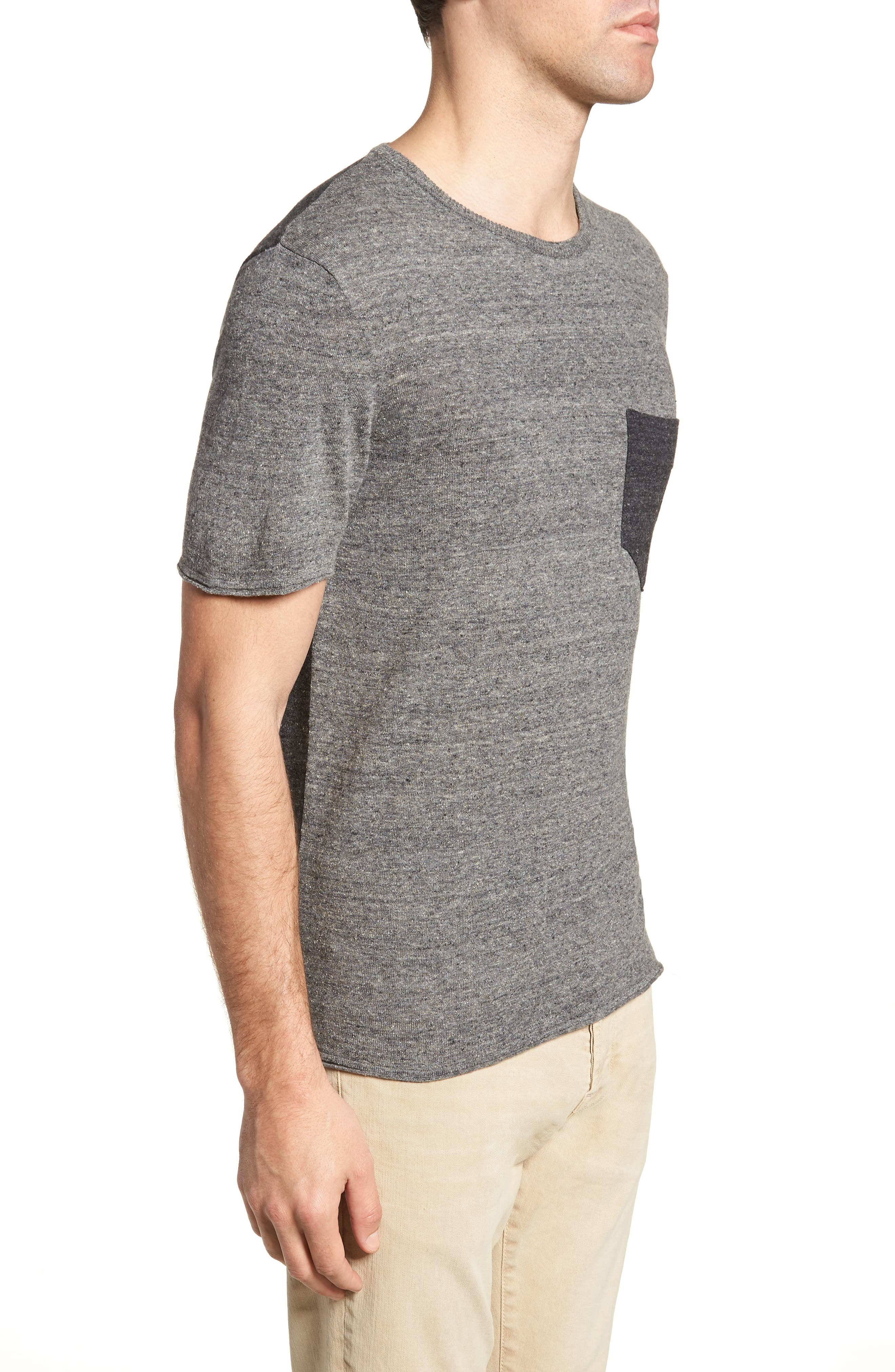 Two-Tone Crewneck T-Shirt,                             Alternate thumbnail 3, color,                             060