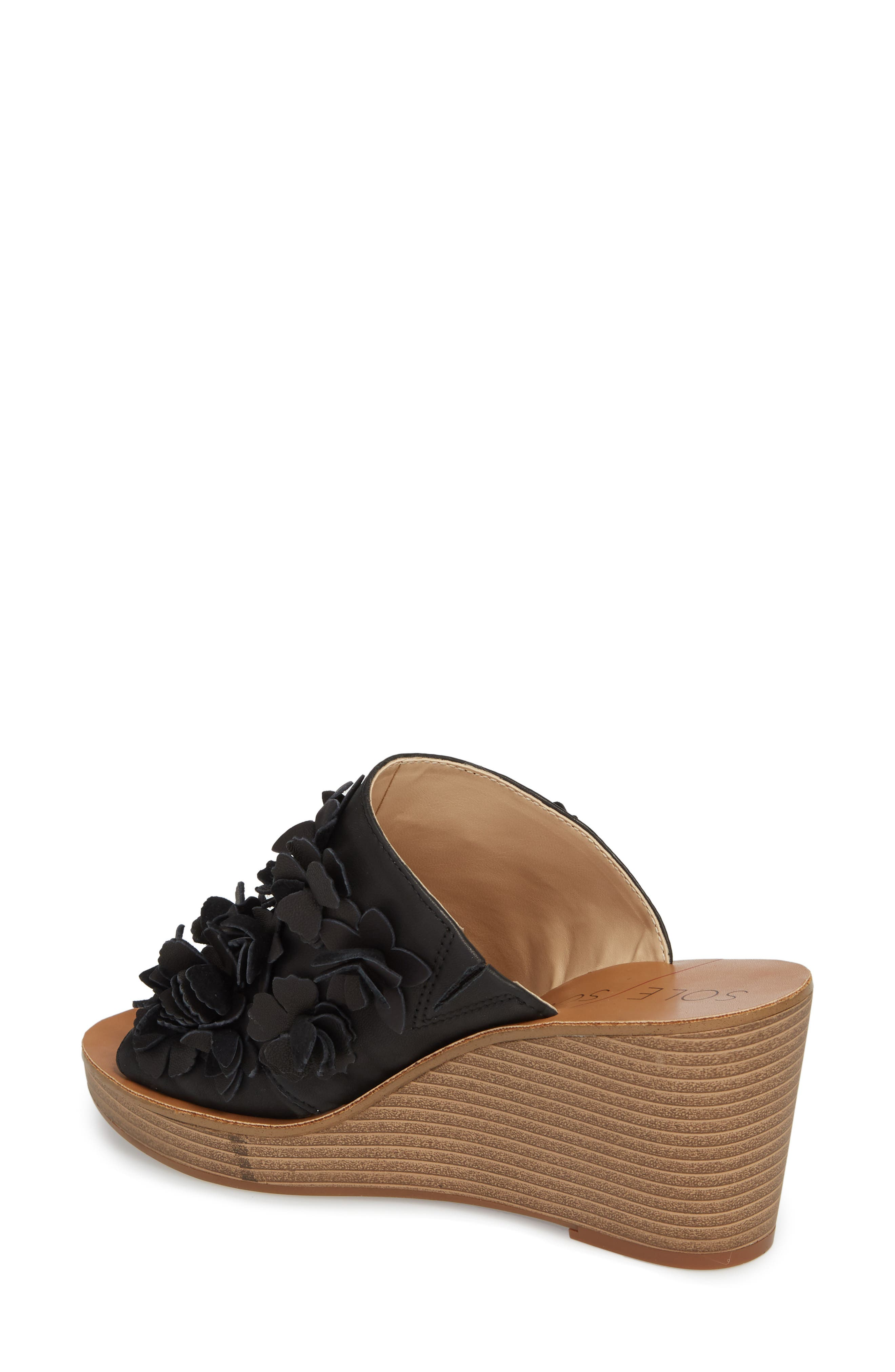 Poppie Wedge Sandal,                             Alternate thumbnail 2, color,                             BLACK