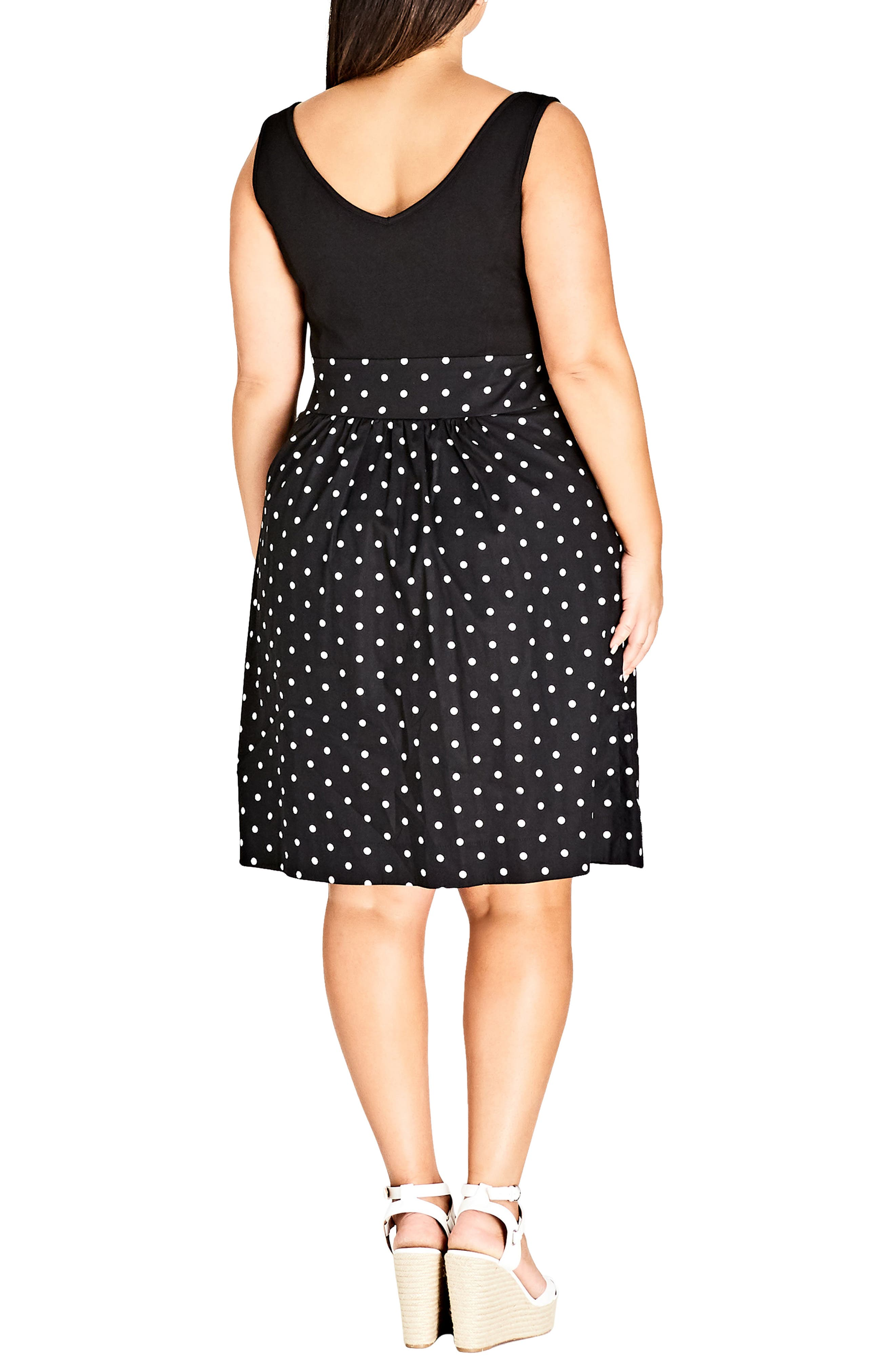 Simply Sweet Fit & Flare Dress,                             Alternate thumbnail 2, color,                             001