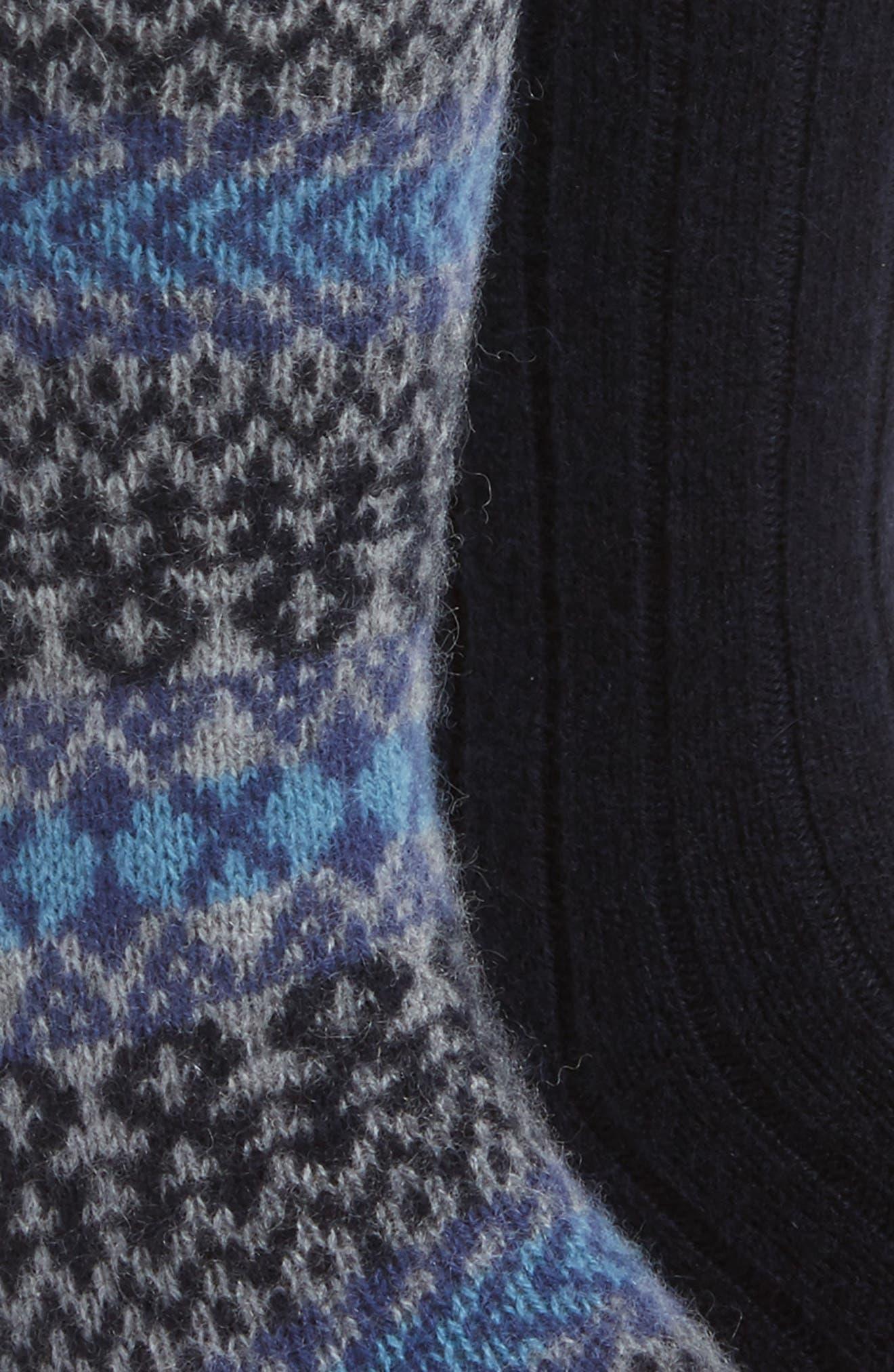 2-Pack Cashmere Blend Socks,                             Alternate thumbnail 9, color,