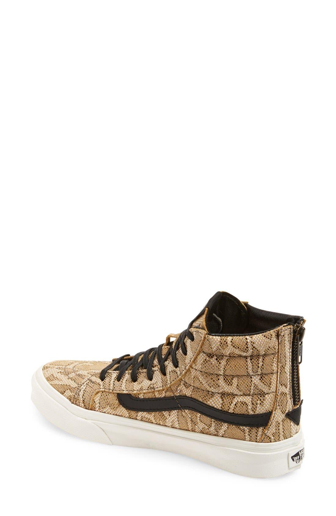 'Sk8-Hi' Zip Sneaker,                             Alternate thumbnail 3, color,                             200