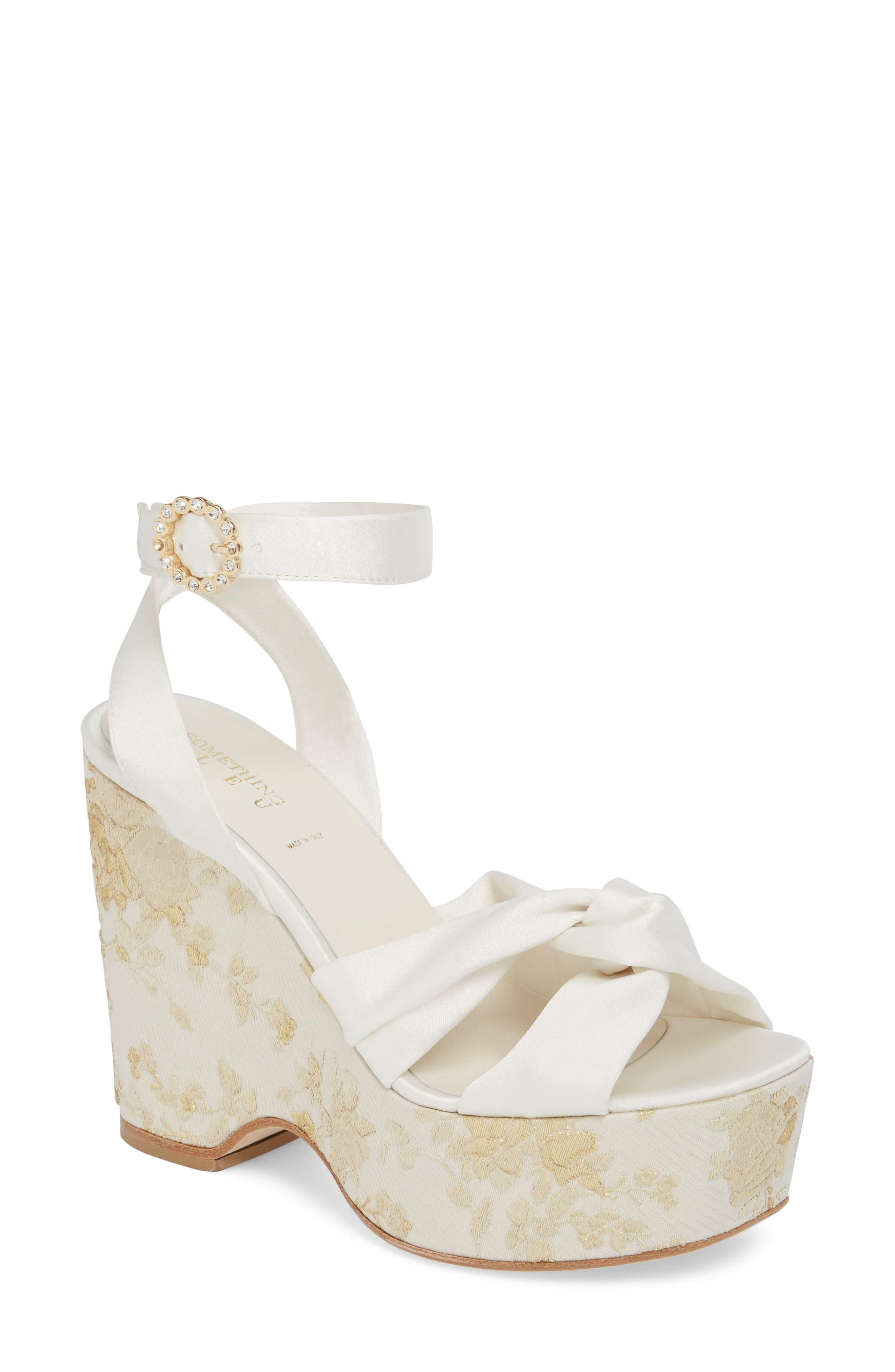 Serena Brocade Platform Sandal,                             Main thumbnail 4, color,