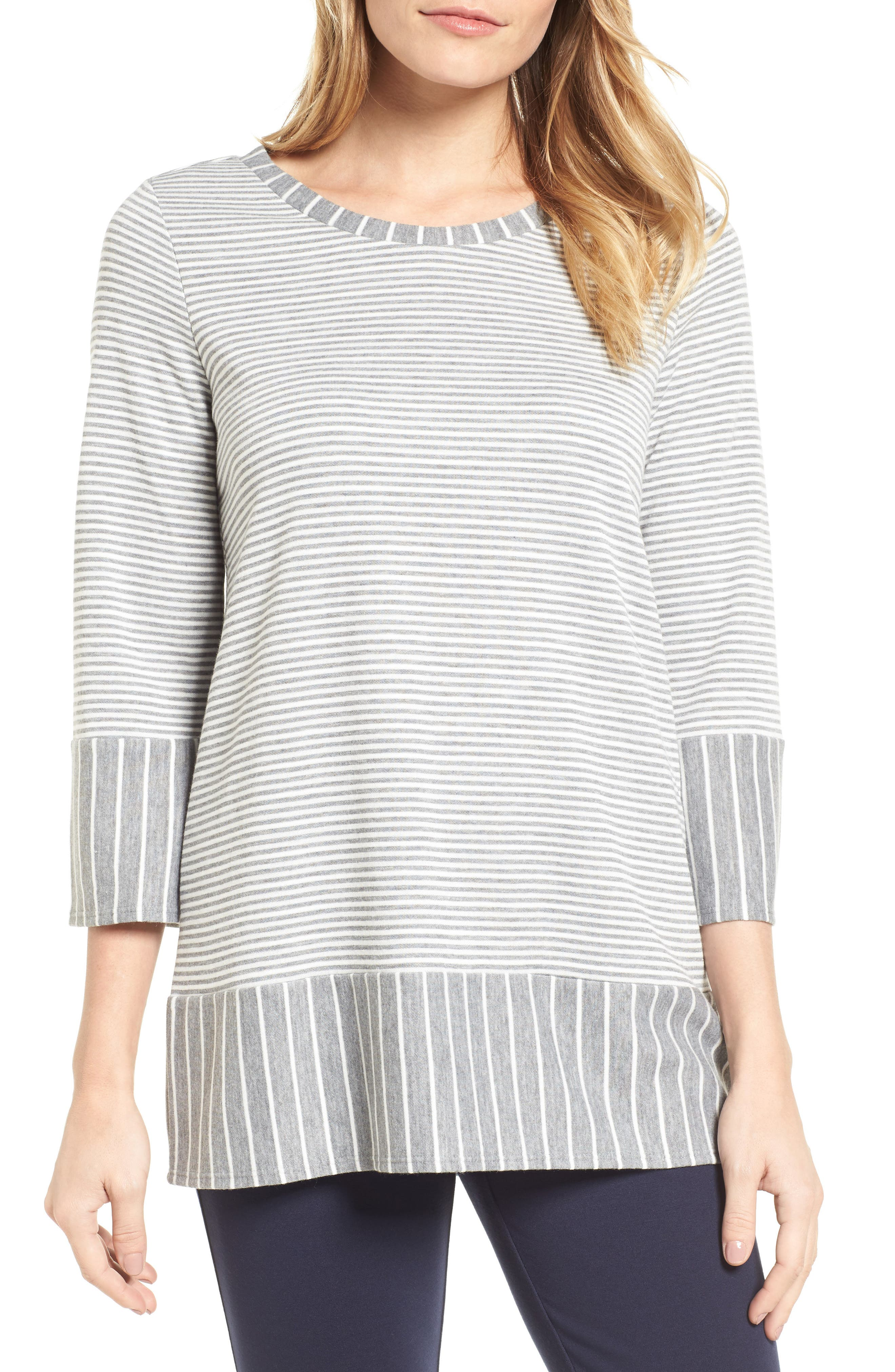 Mixed Stripe Top,                         Main,                         color,