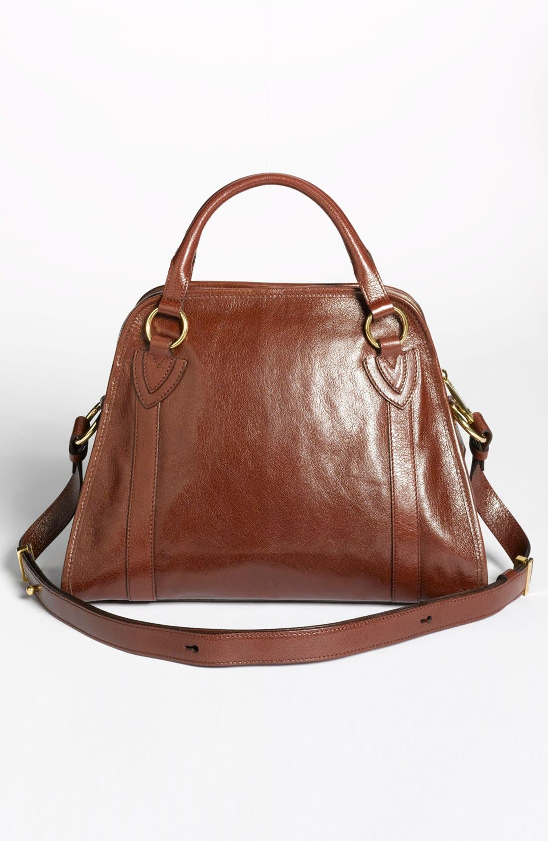 'Classic Wellington' Leather Satchel,                             Alternate thumbnail 19, color,