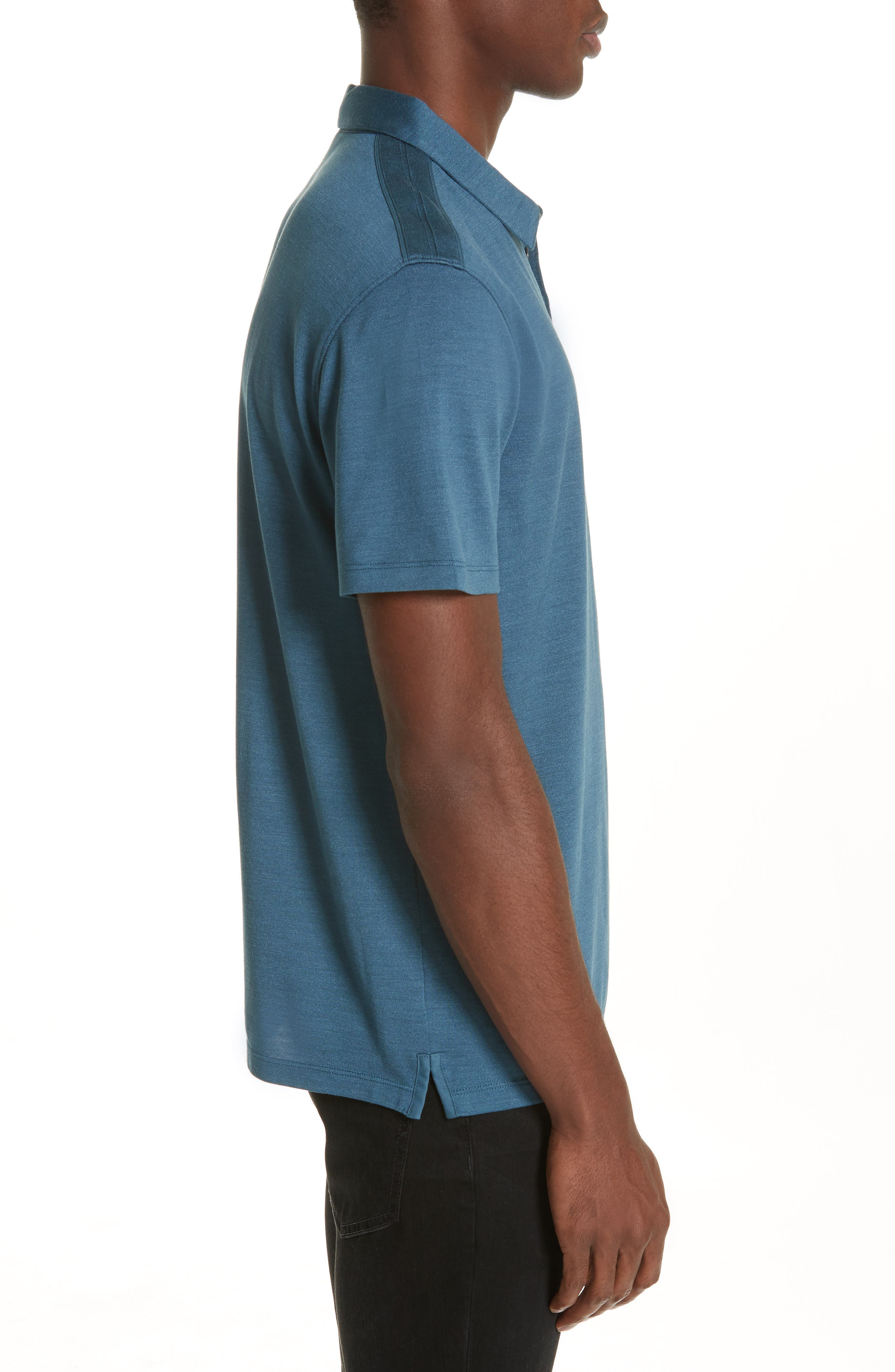 Hampton Jersey Polo,                             Alternate thumbnail 3, color,                             OCEAN BLUE
