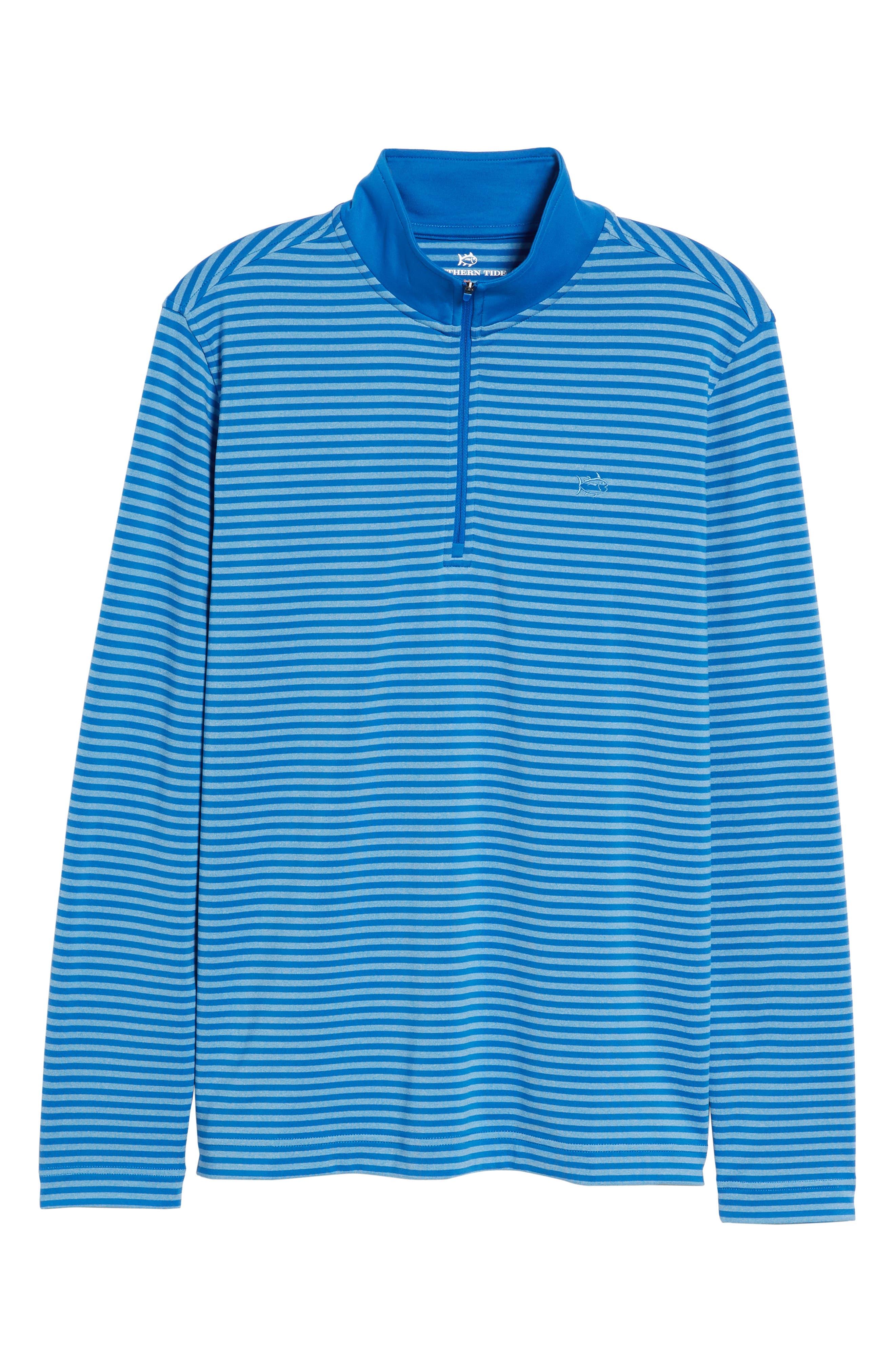 SOUTHERN TIDE,                             Stripe Quarter Zip Pullover,                             Alternate thumbnail 6, color,                             400