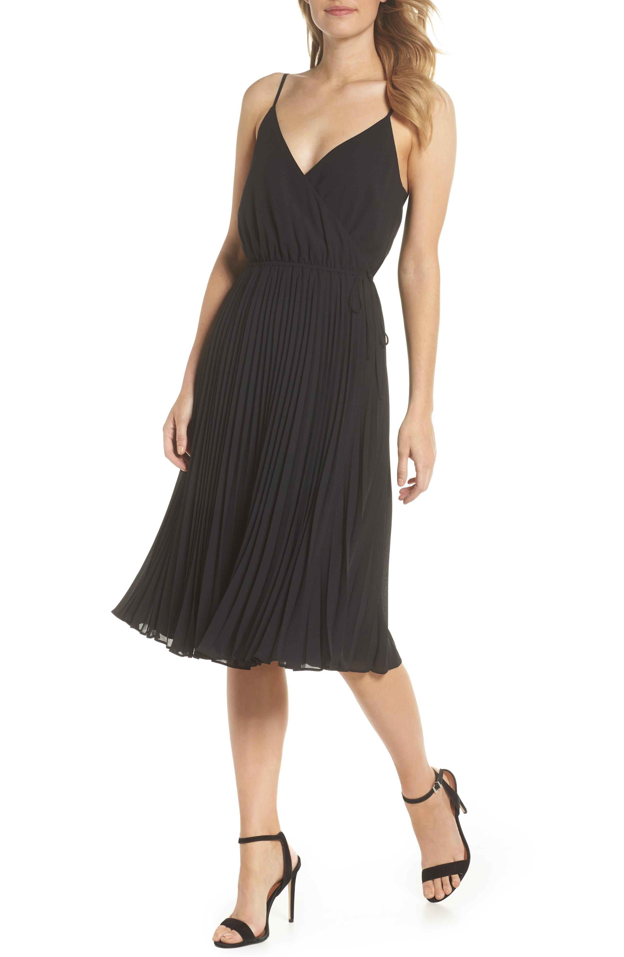 Lily Pond Faux Wrap Dress,                         Main,                         color, 001