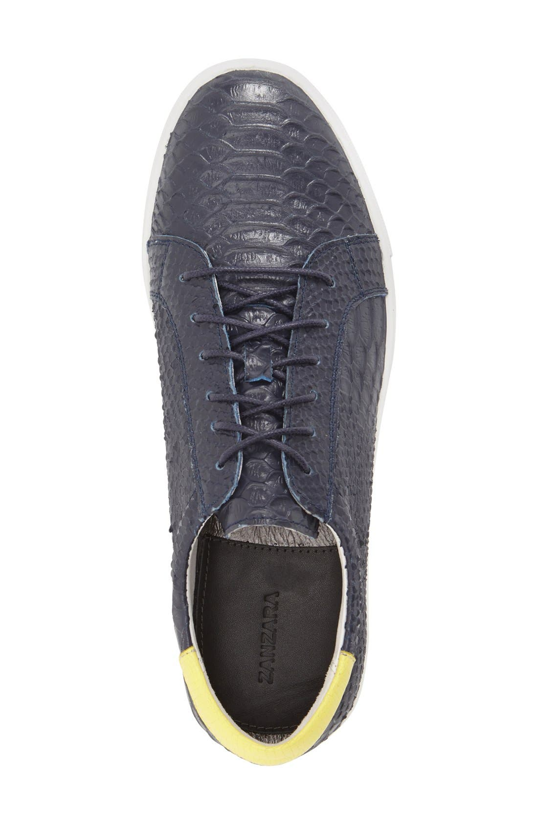 'Riff' Sneaker,                             Alternate thumbnail 3, color,                             NAVY LEATHER