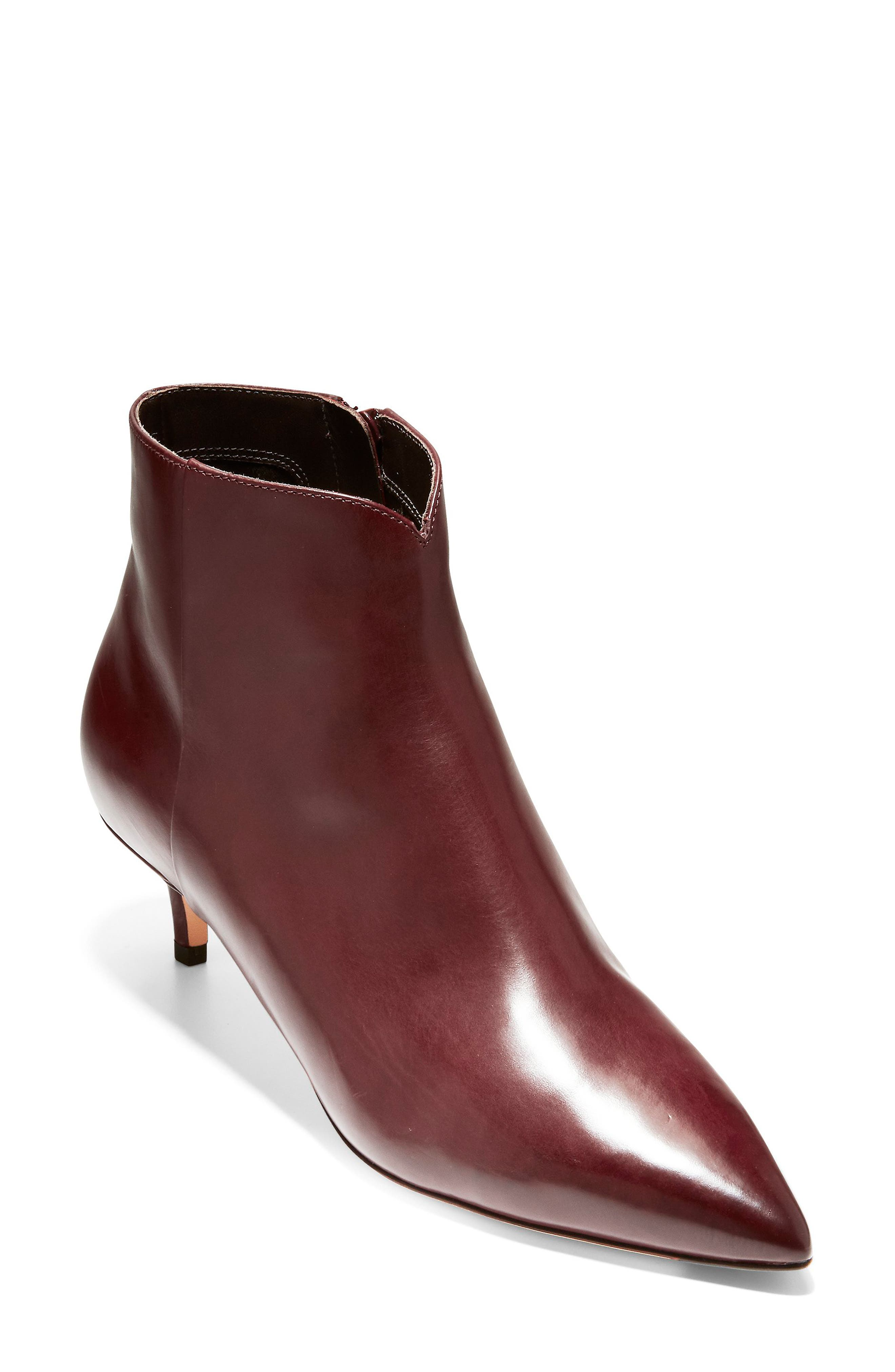 Vesta Bootie,                             Main thumbnail 1, color,                             CORDOVAN LEATHER