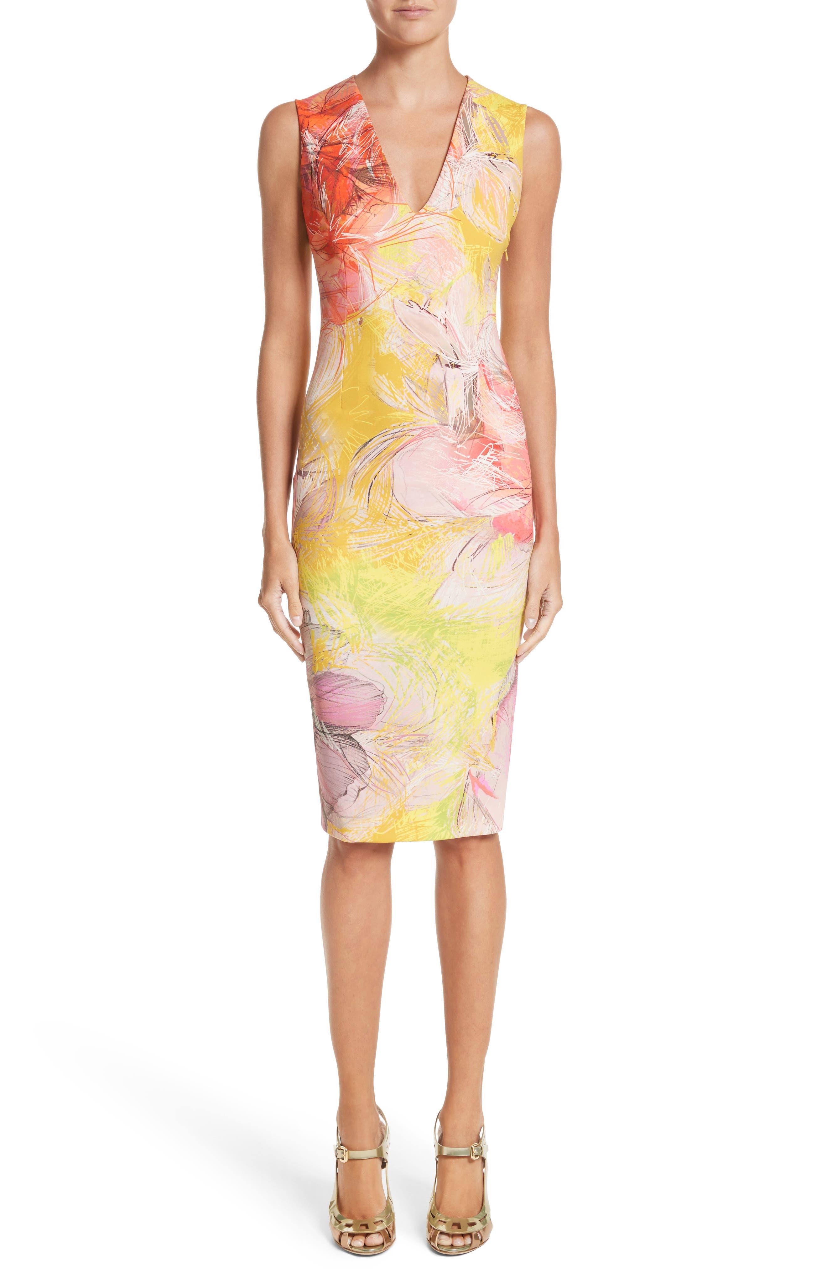 Print Sheath Dress,                             Main thumbnail 2, color,