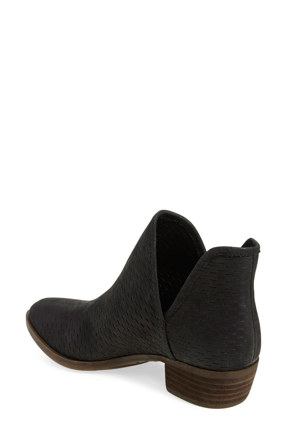 'Bashina' Perforated Bootie,                             Alternate thumbnail 2, color,                             001