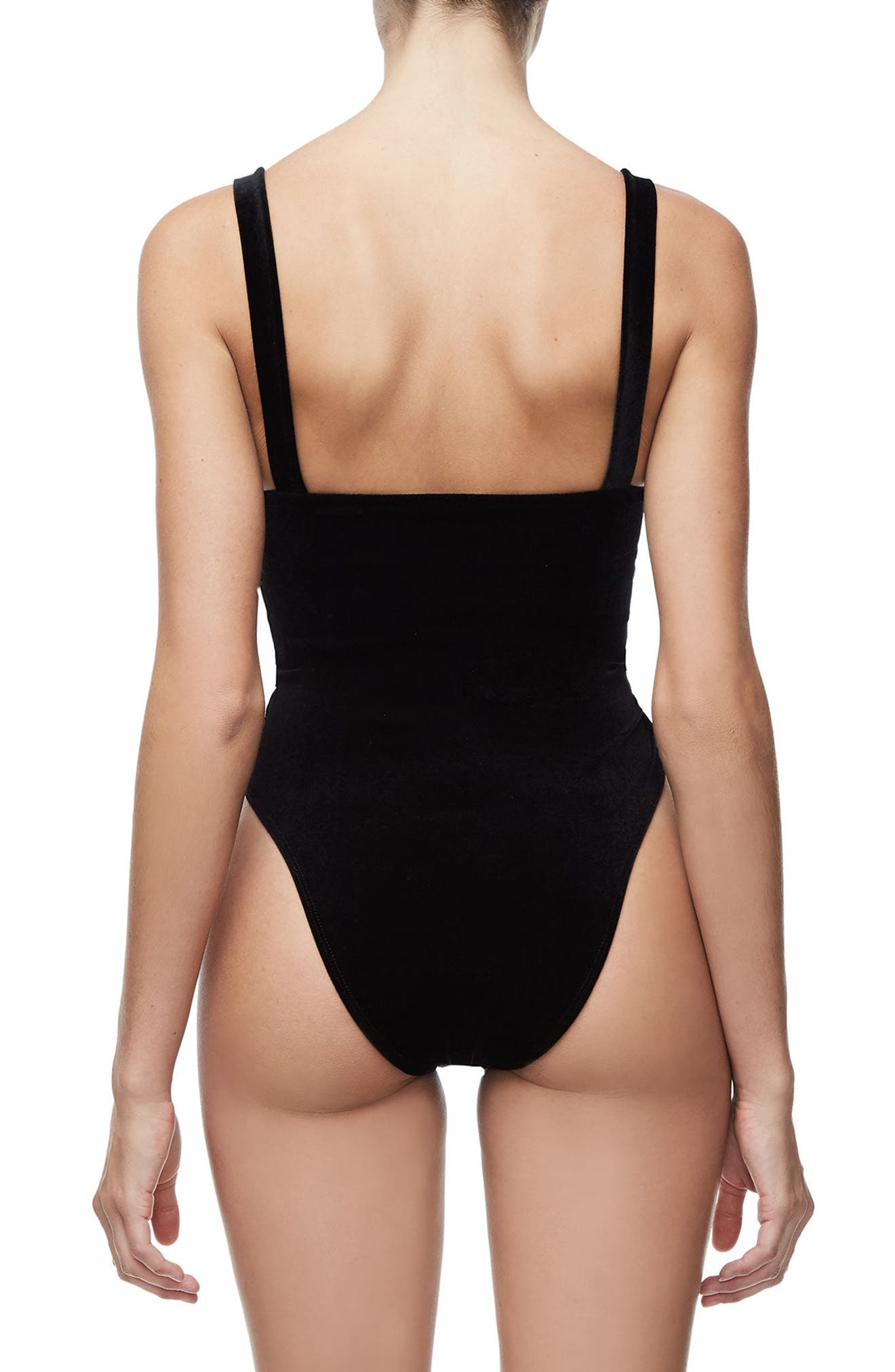 Sweetheart Bodysuit,                             Alternate thumbnail 3, color,                             BLACK001