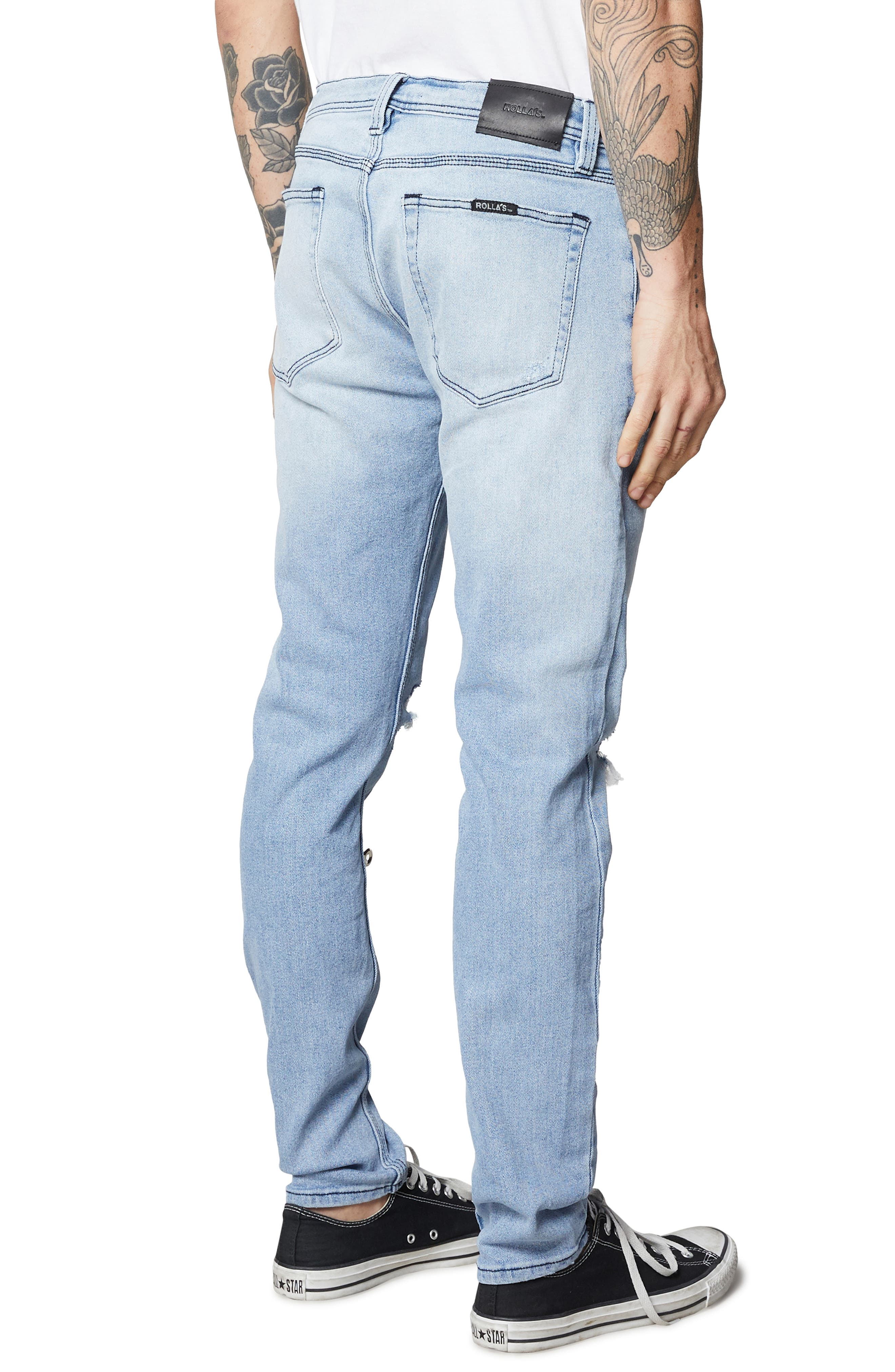 ROLLA'S,                             Stinger Skinny Fit Jeans,                             Alternate thumbnail 4, color,                             403
