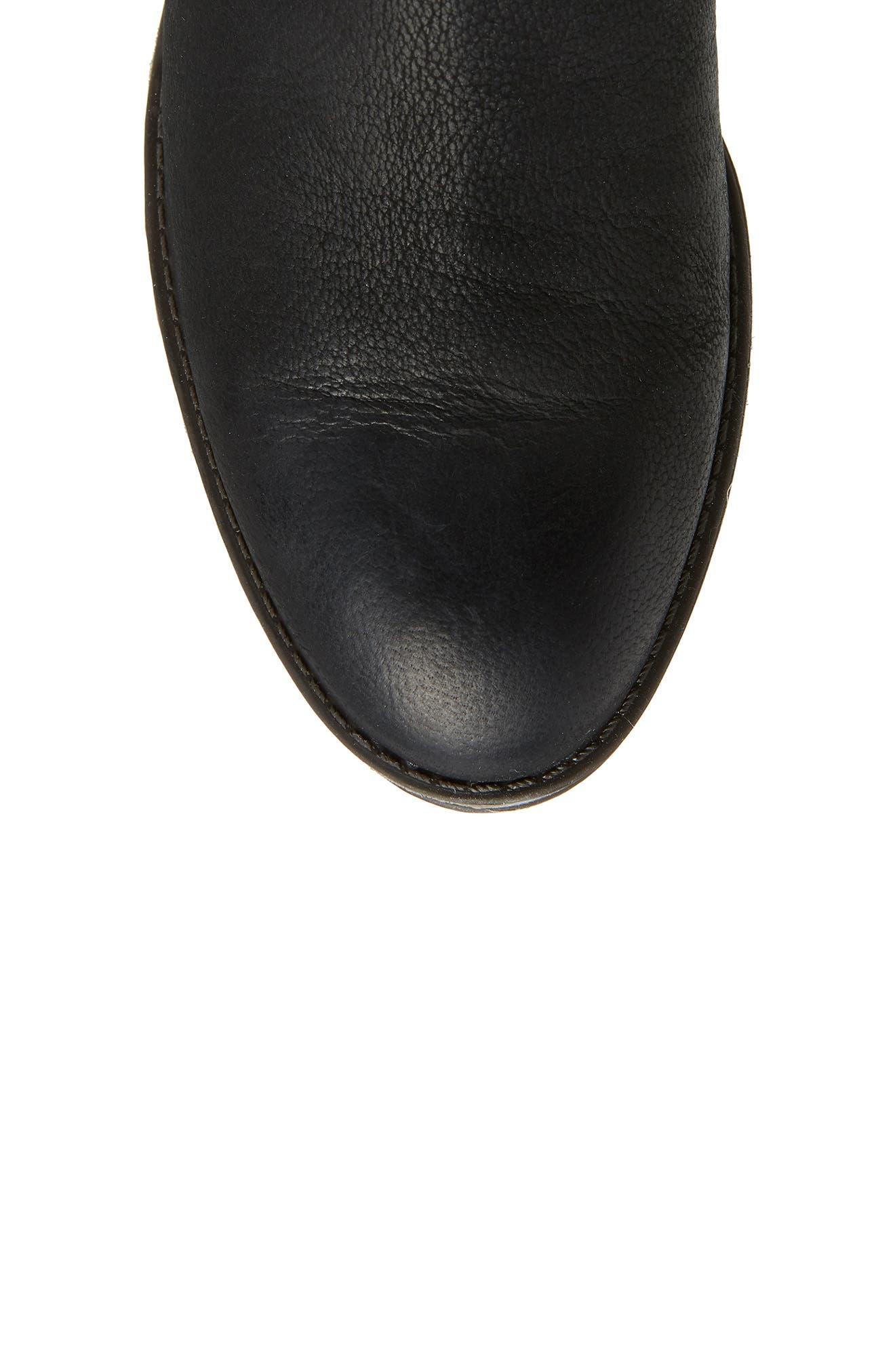 Patamina Boot,                             Alternate thumbnail 5, color,                             BLACK LEATHER