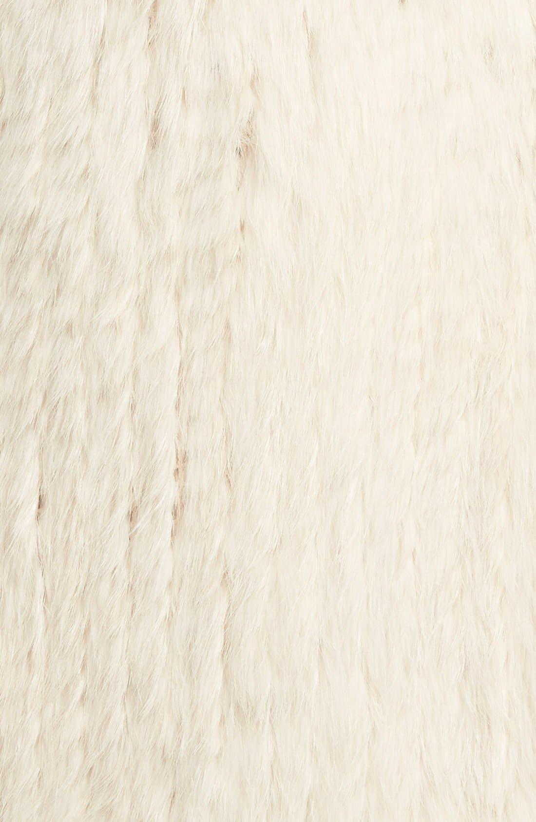 Genuine Rabbit Fur & Knit Vest,                             Alternate thumbnail 11, color,
